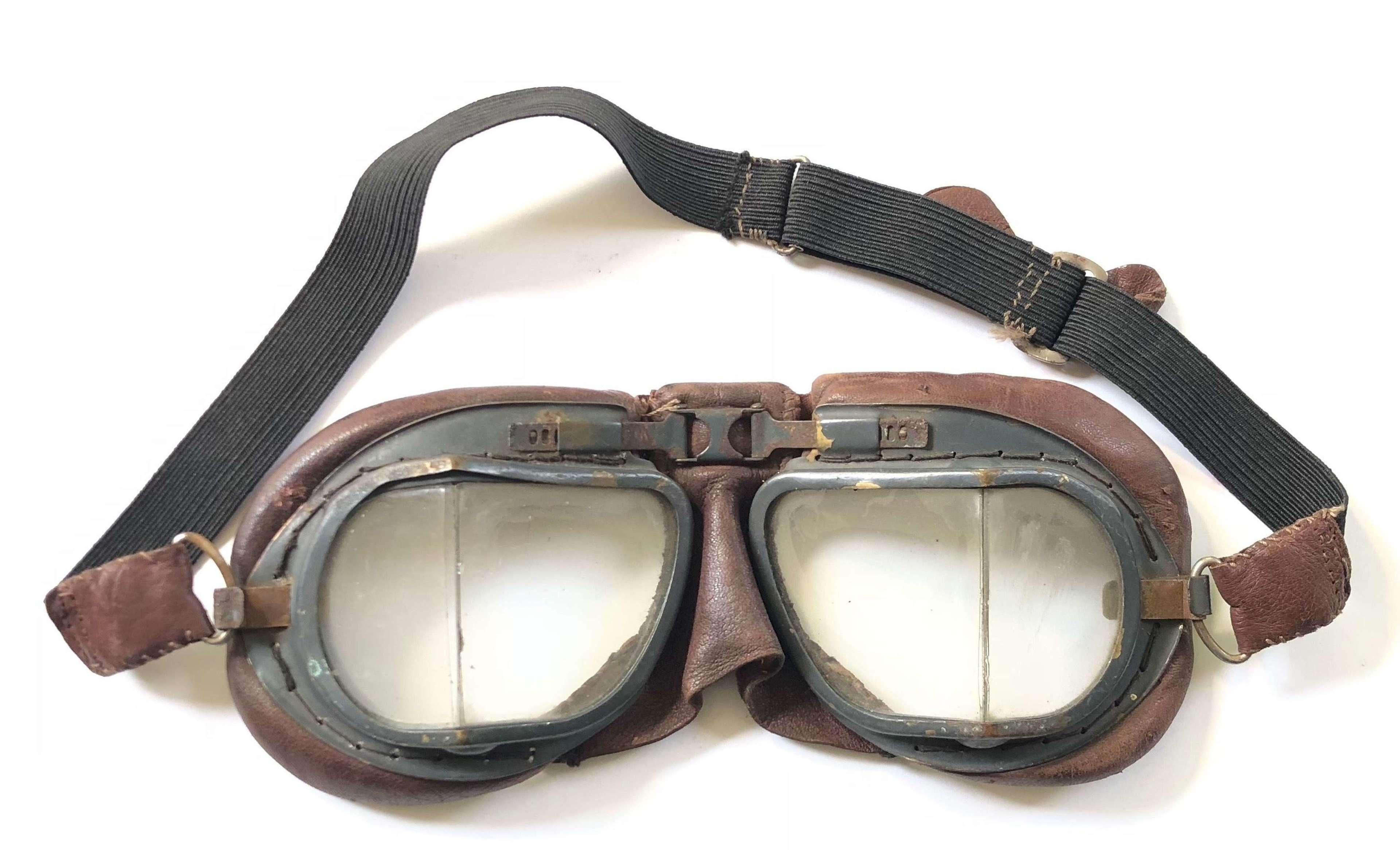 WW2 Period RAF MK8 Flying Goggles.