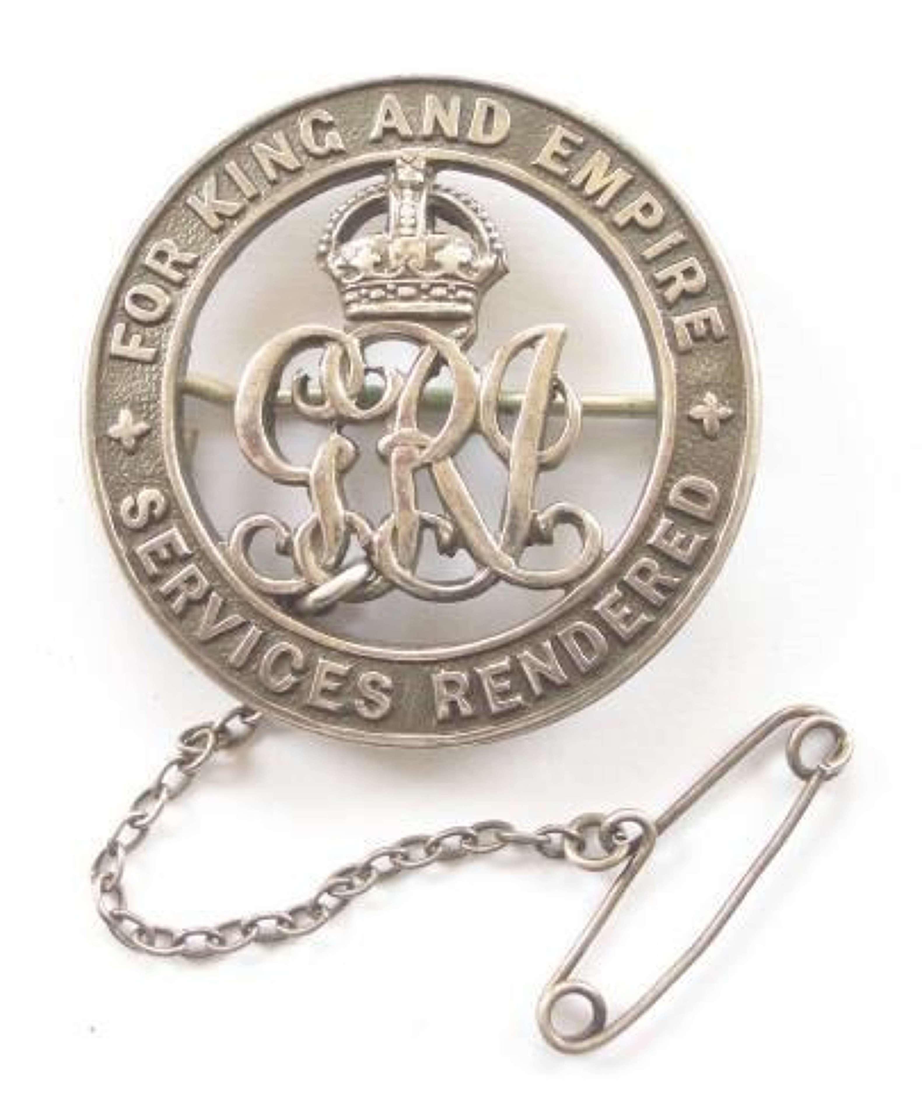 WW1 South African Silver War Badge.