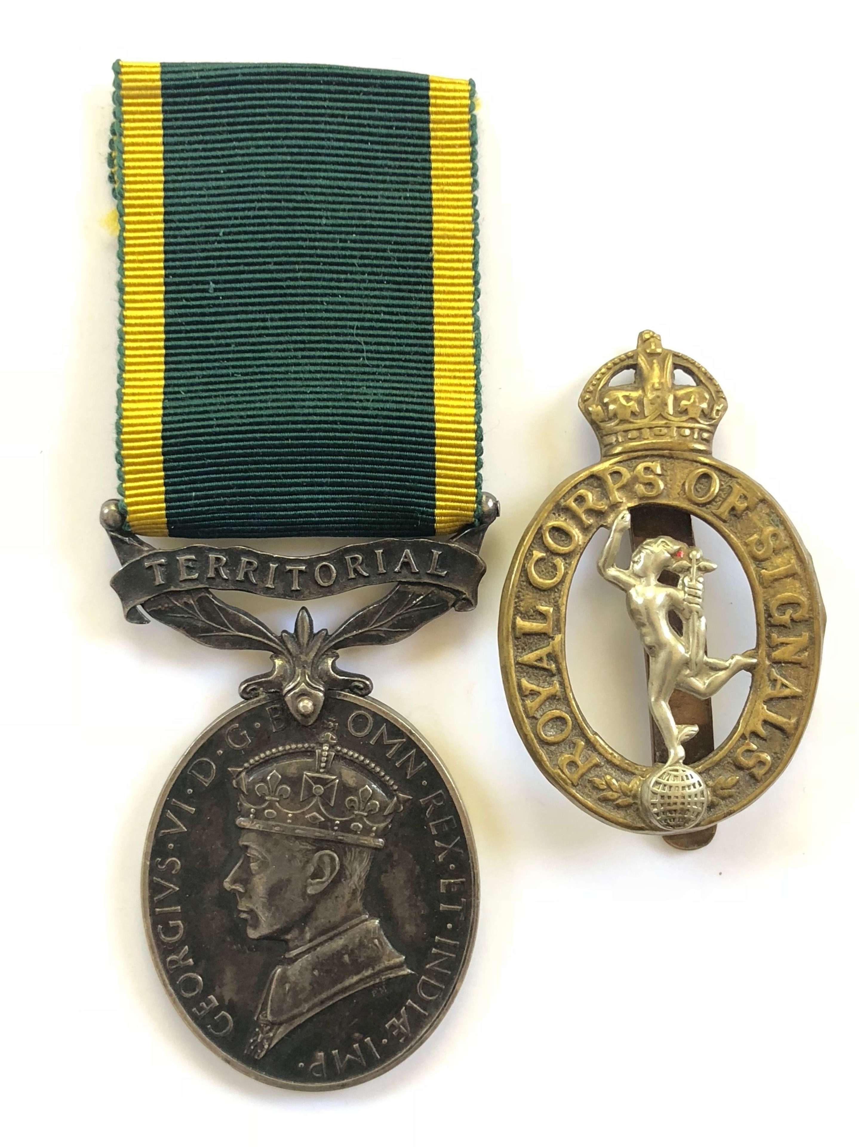 Royal Corps of Signals Territorial Efficiency Medal.