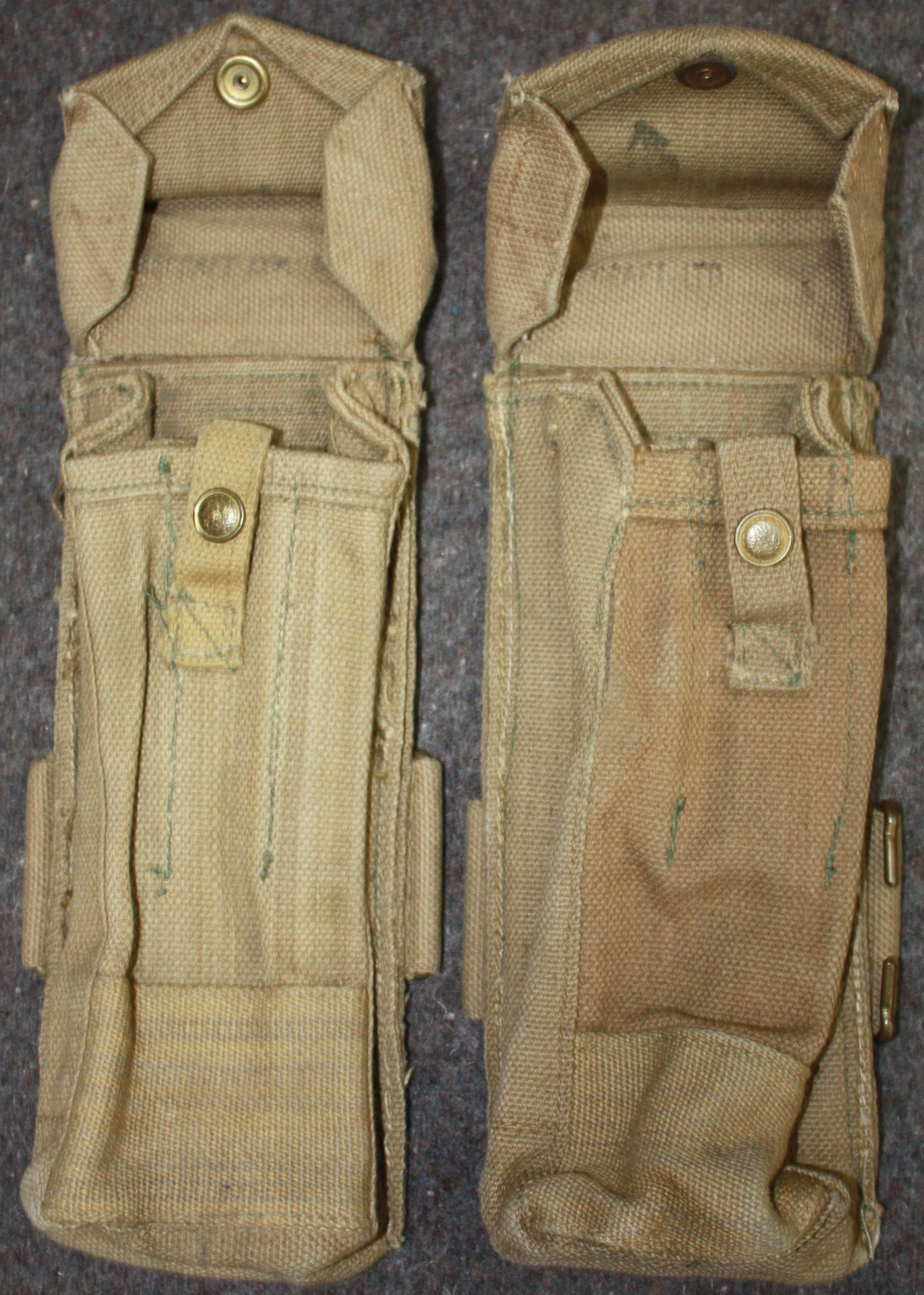 A PAIR OF WWII STEN POUCHES