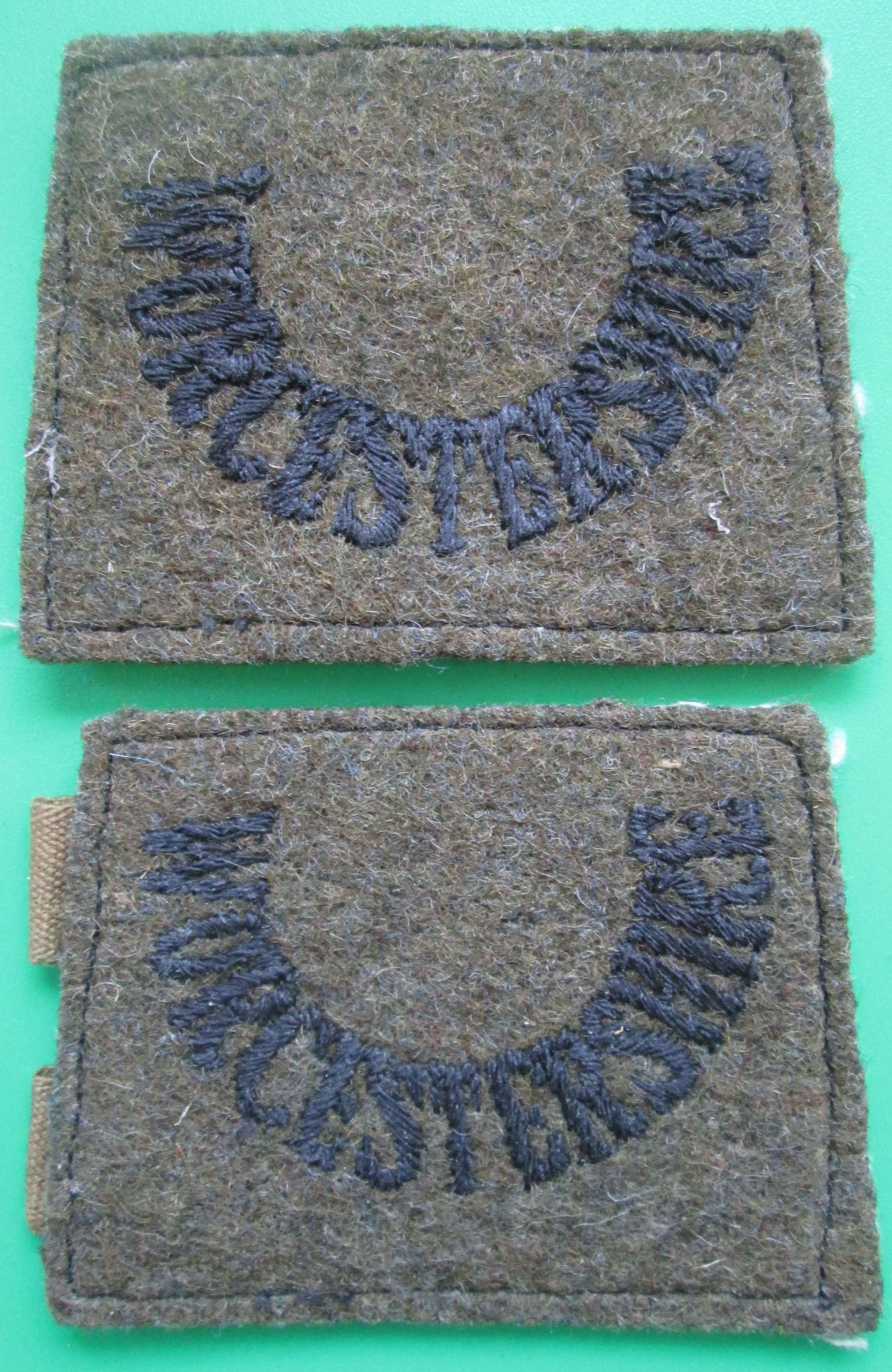 A PAIR OF WORCESTERSHIRE SLIP ON TITLES