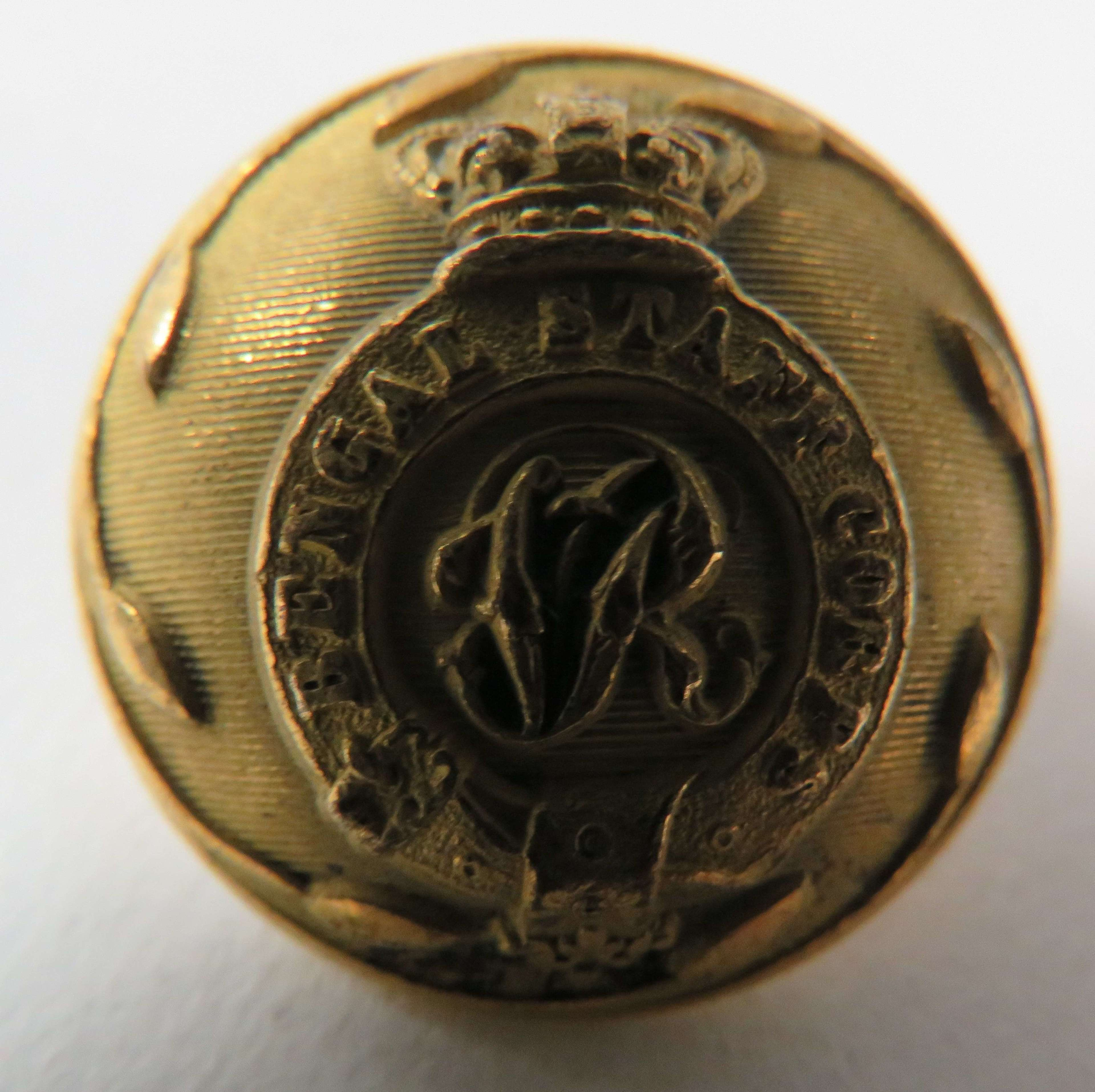 Victorian Bengal Staff Corps Large Button