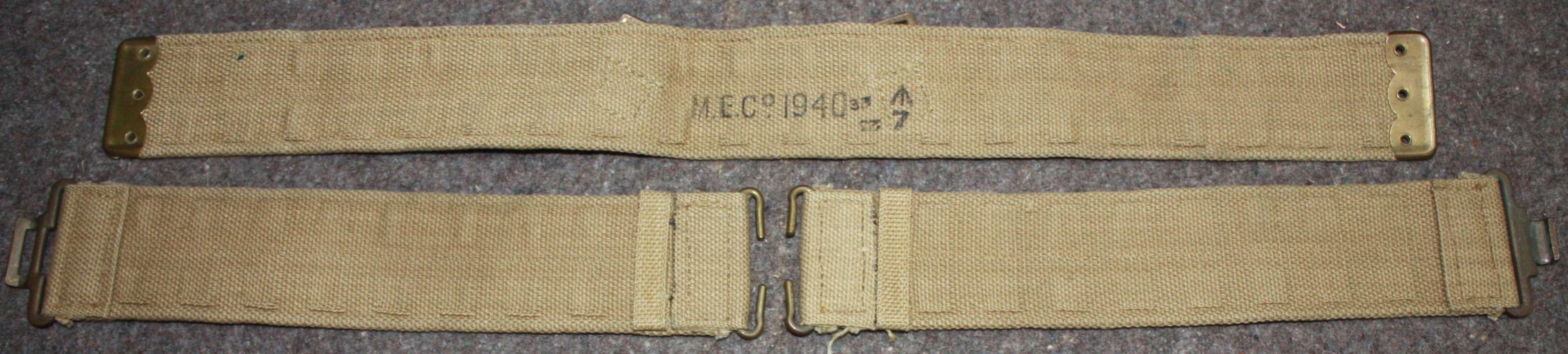 A NEAR MINT NAVY 19 PATTERN 1940 DATED WEBBING BELT