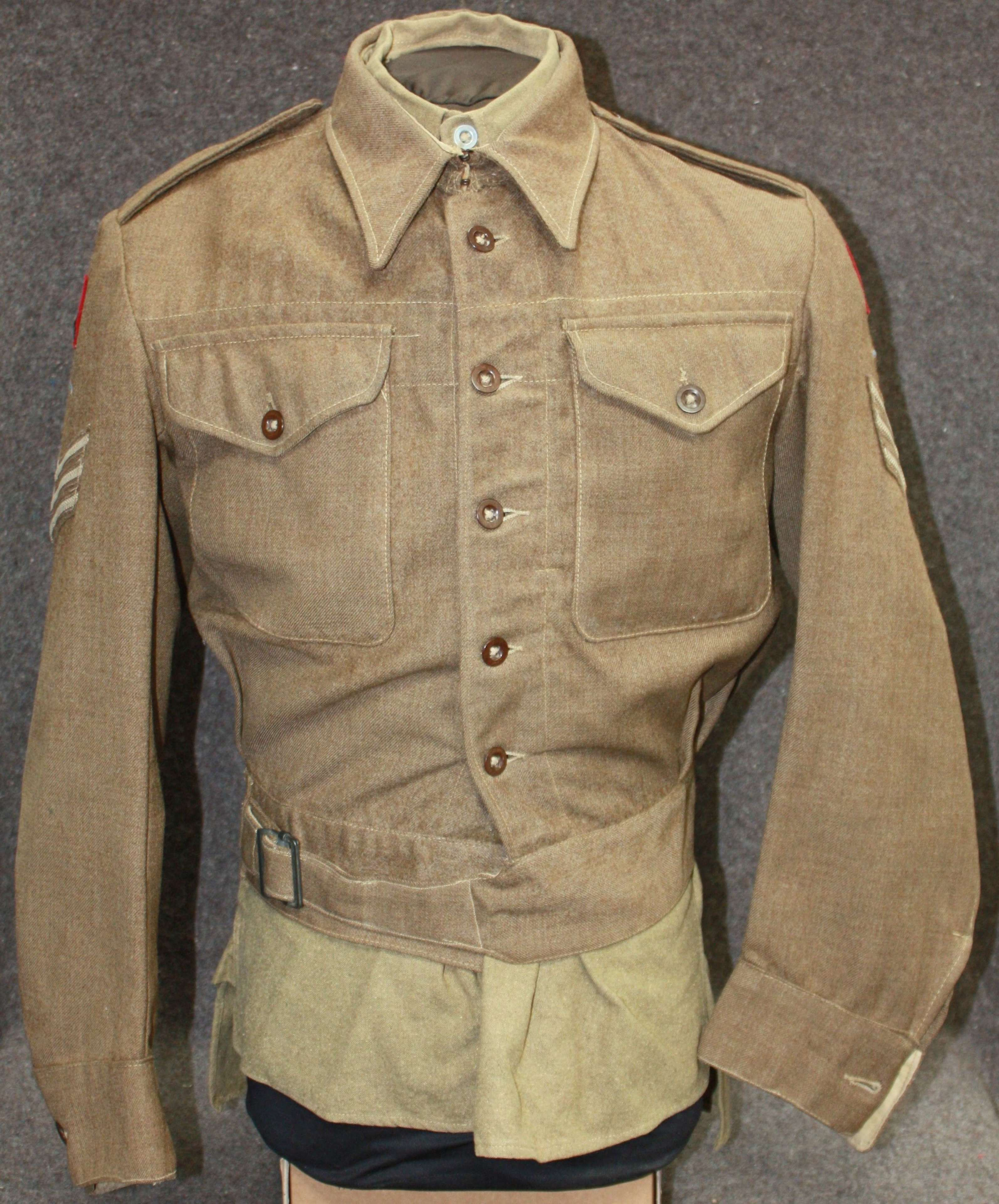 A LATER WWII ARMY EDUCATION CORPS UNIFORM GROUPING