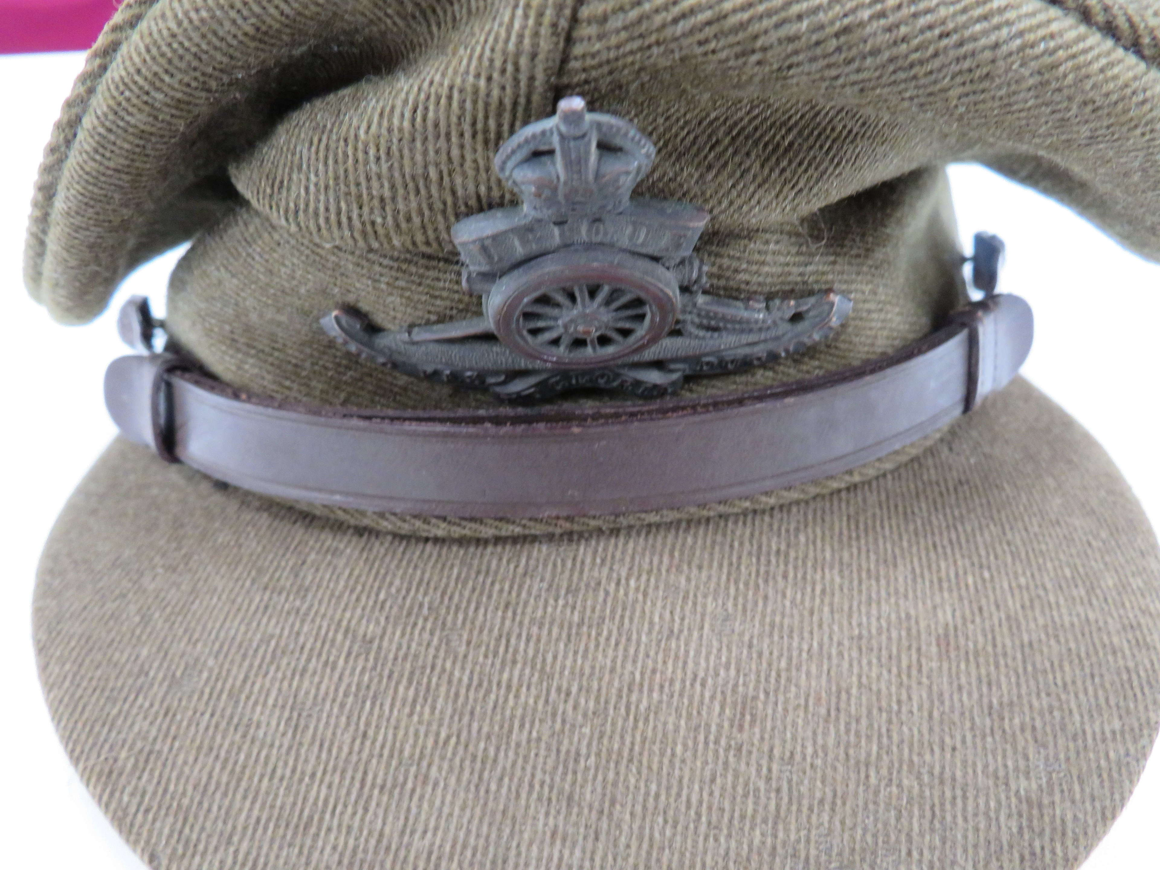WW 2 Large Size Royal Artillery Officers Cap