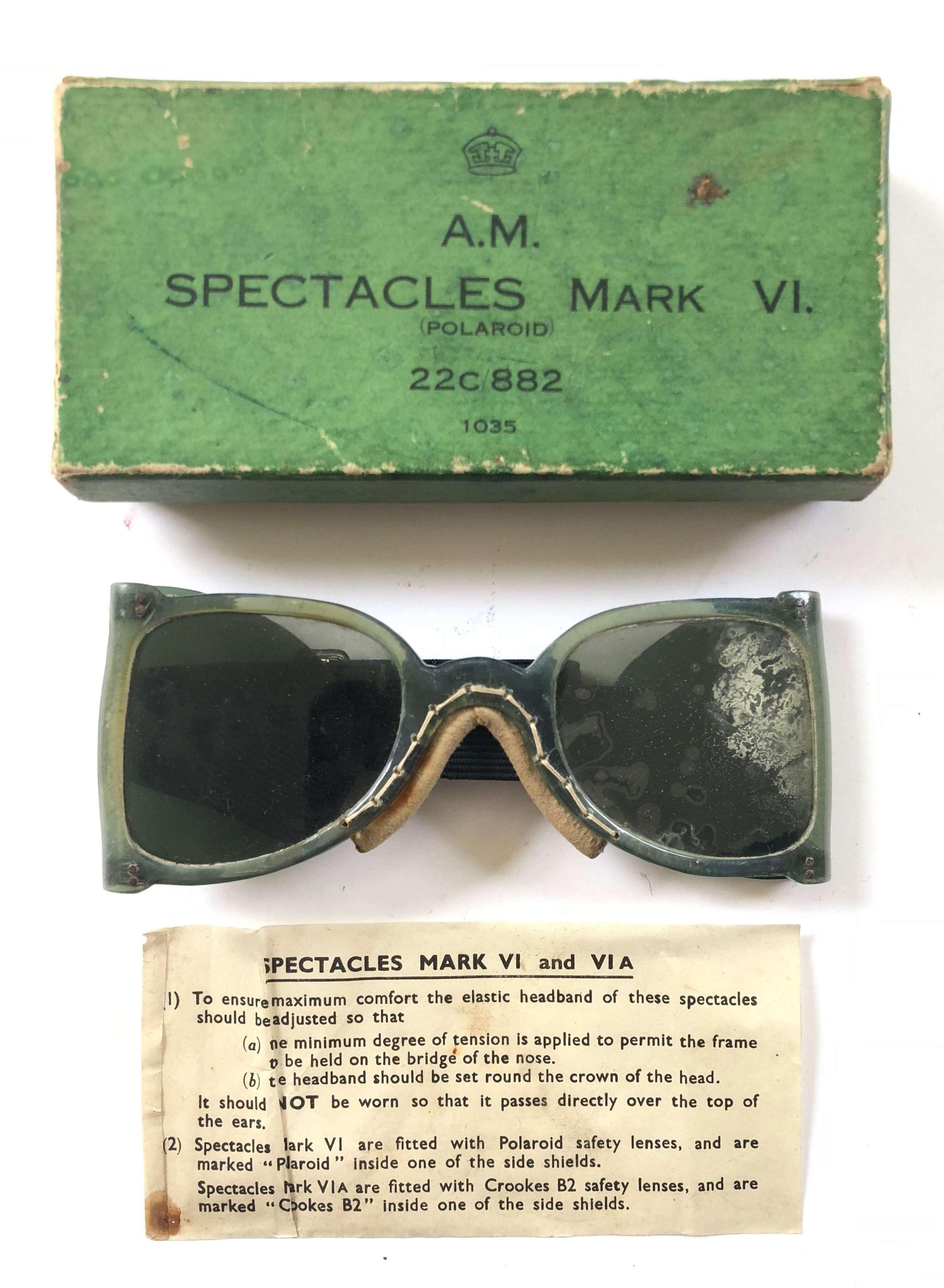 WW2 RAF MKVI Spectacles (Goggles) Boxed.