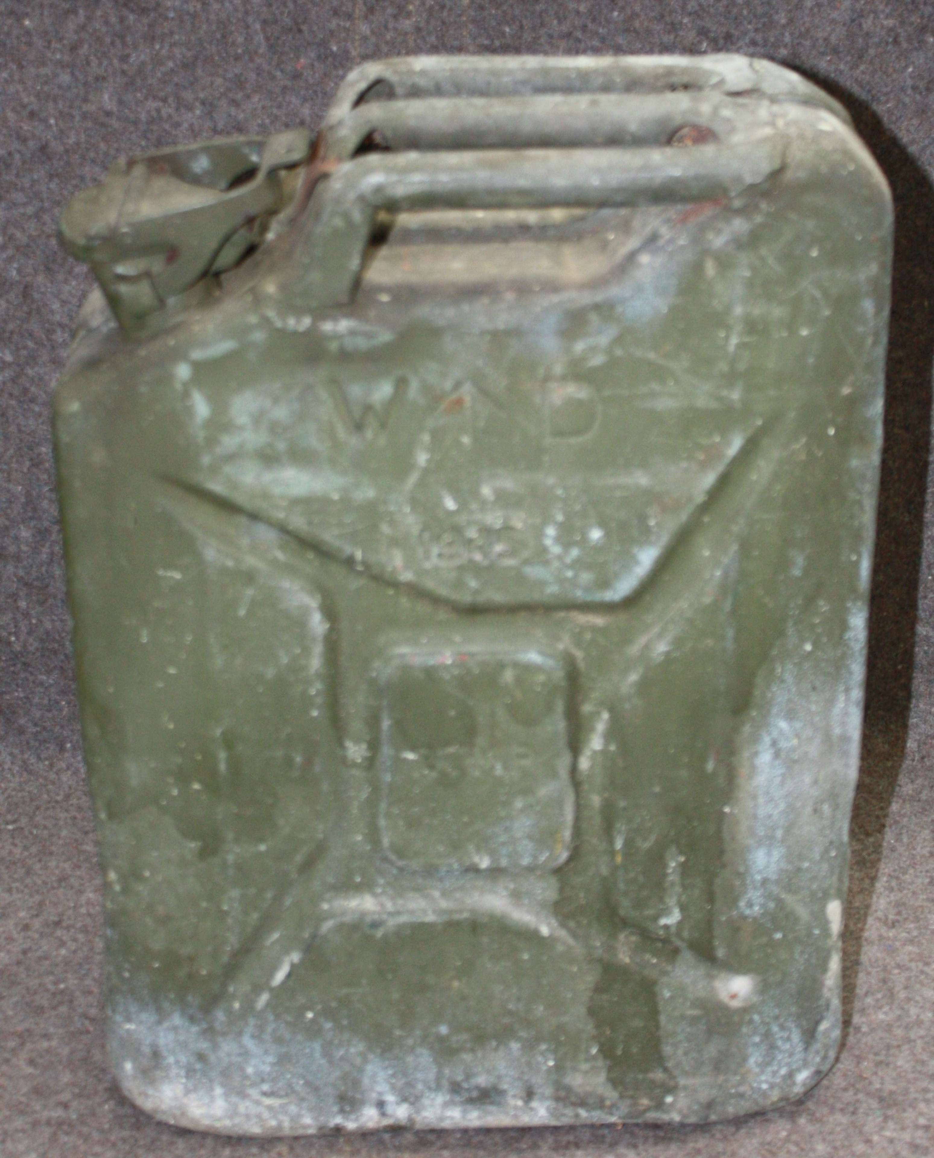 A 1945 DATED BRITISH FUEL CAN