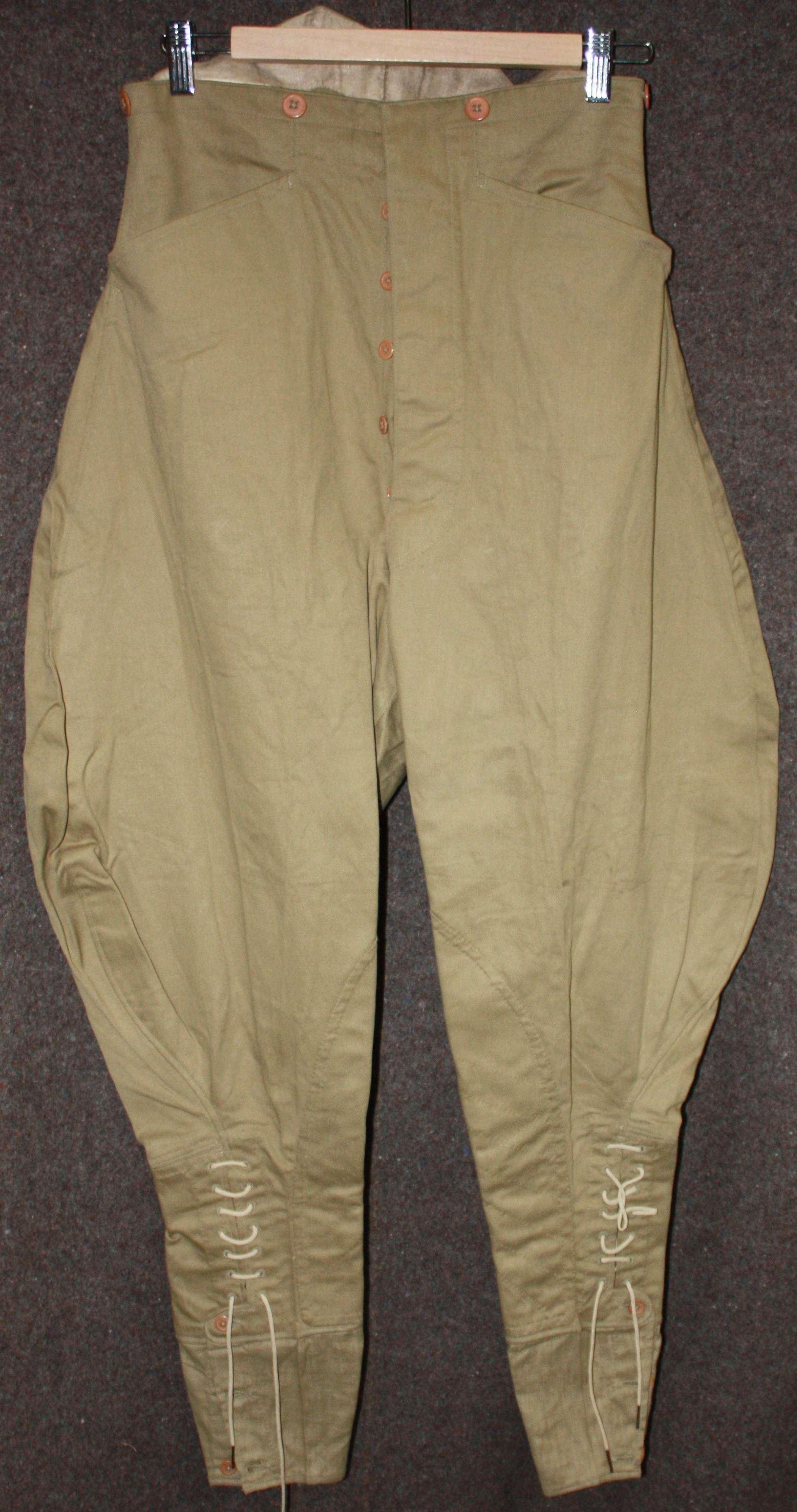 A 1939 DATED PAIR OF INDIAN MADE JODHPURS SMALL SIZE SEE PICS