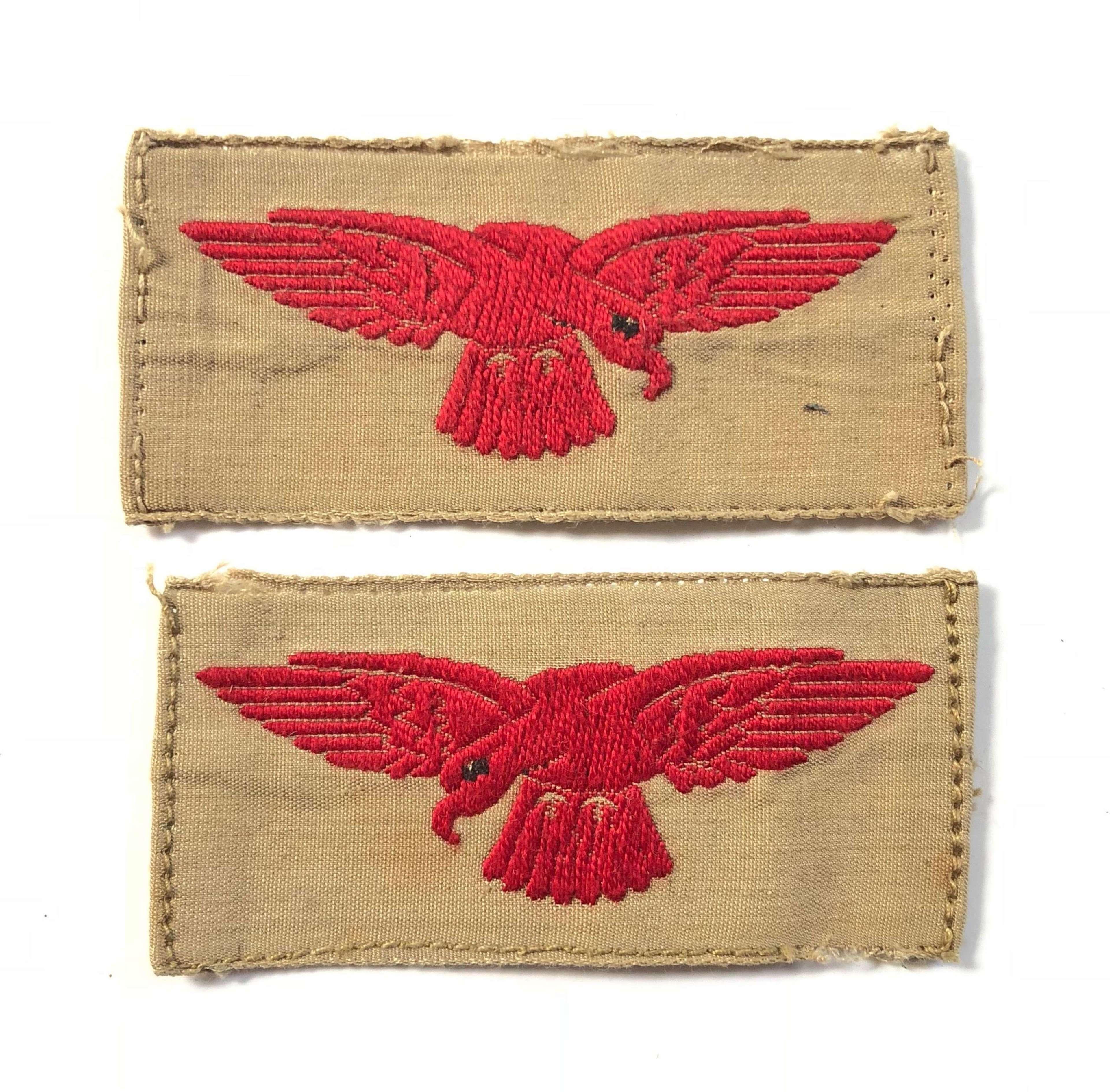 WW2 Pattern RAF Khaki Drill Shoulder Eagles.