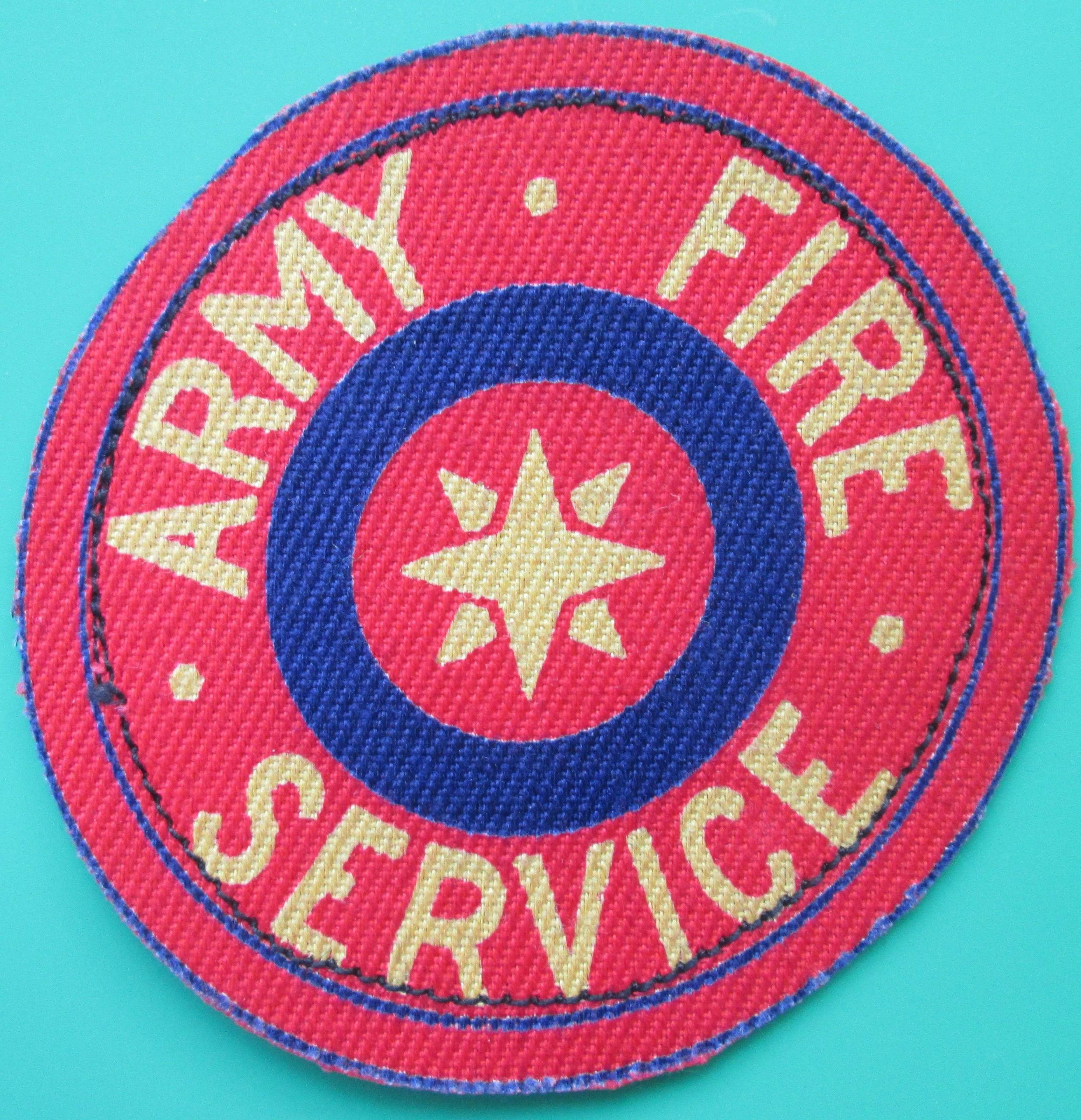AN ARMY FIRE SERVICE PATCH