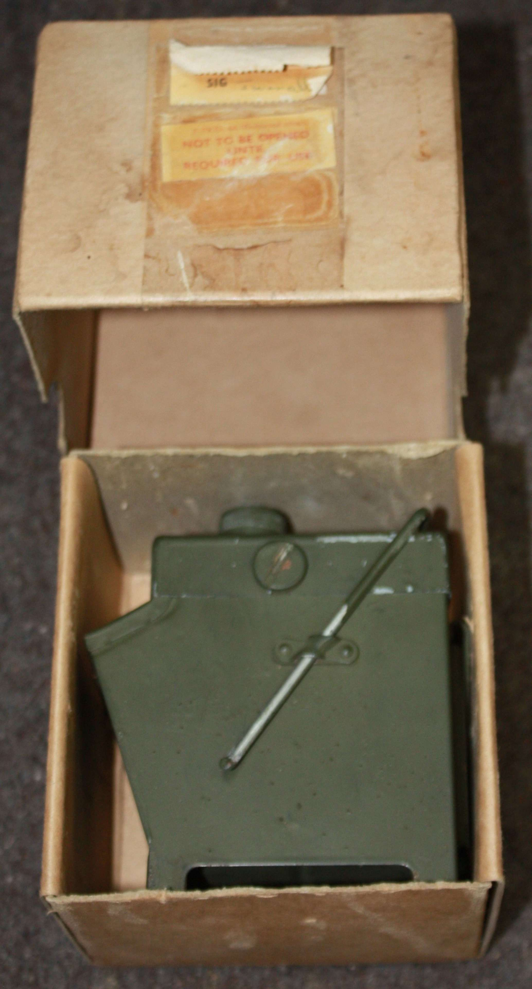 A GOOD WWII BOXED LAMP