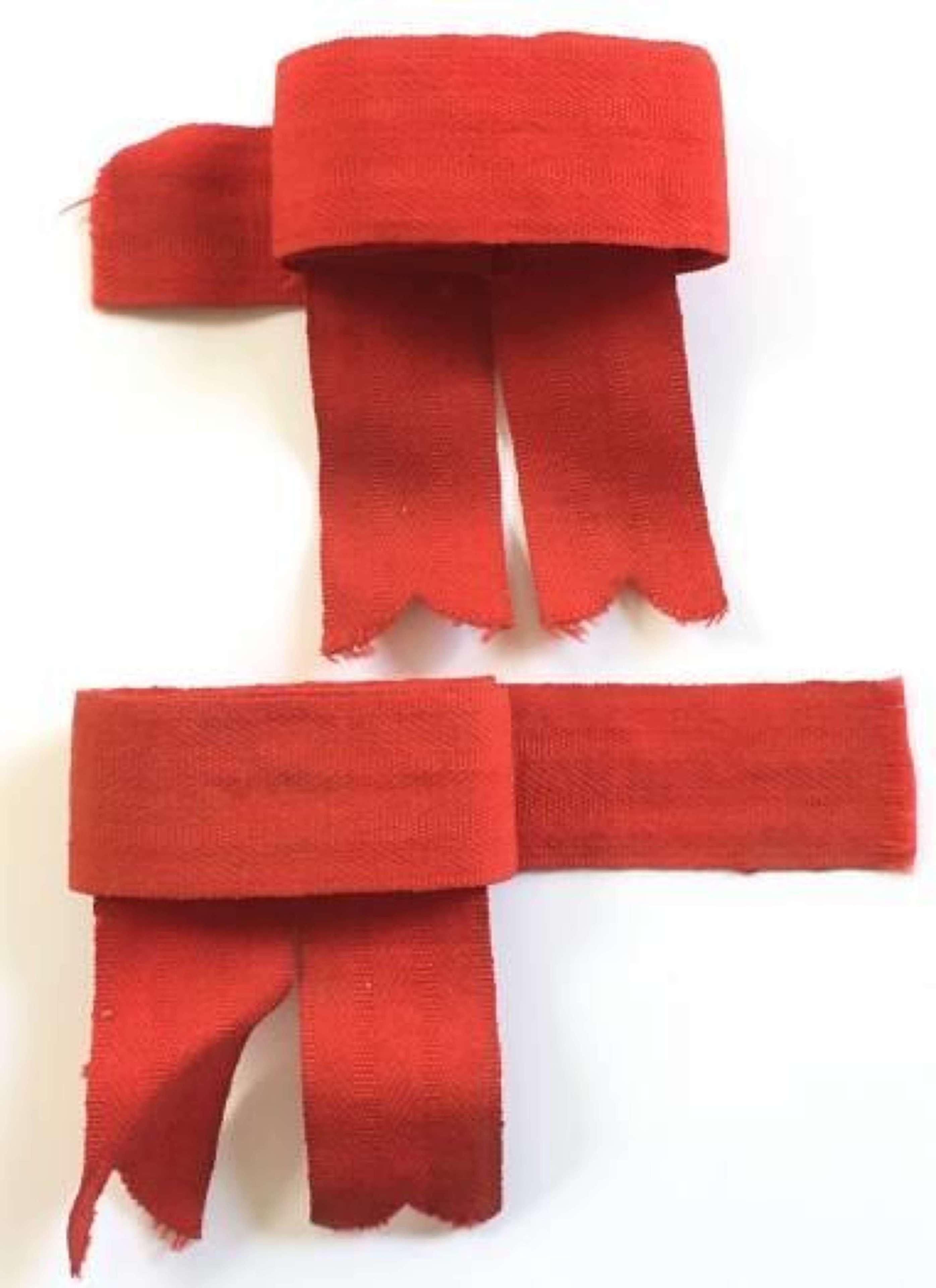 WW1 Highland Regiment Hose Tops Ribbons.