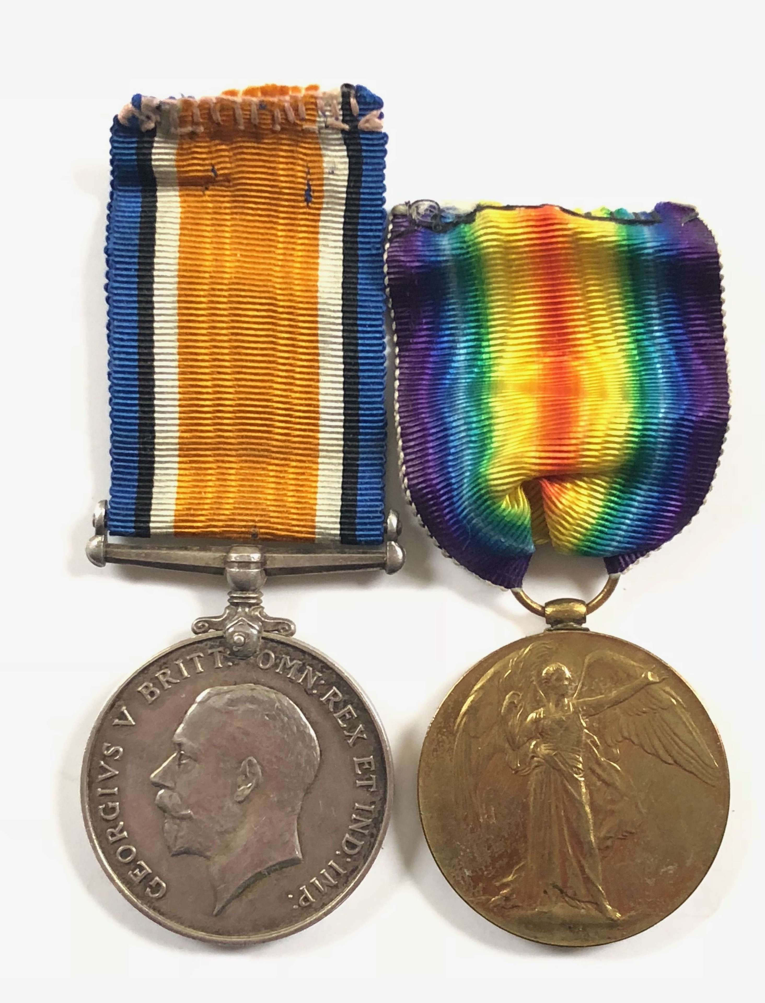 WW1 French Red Cross British Nurse Pair of Medals.