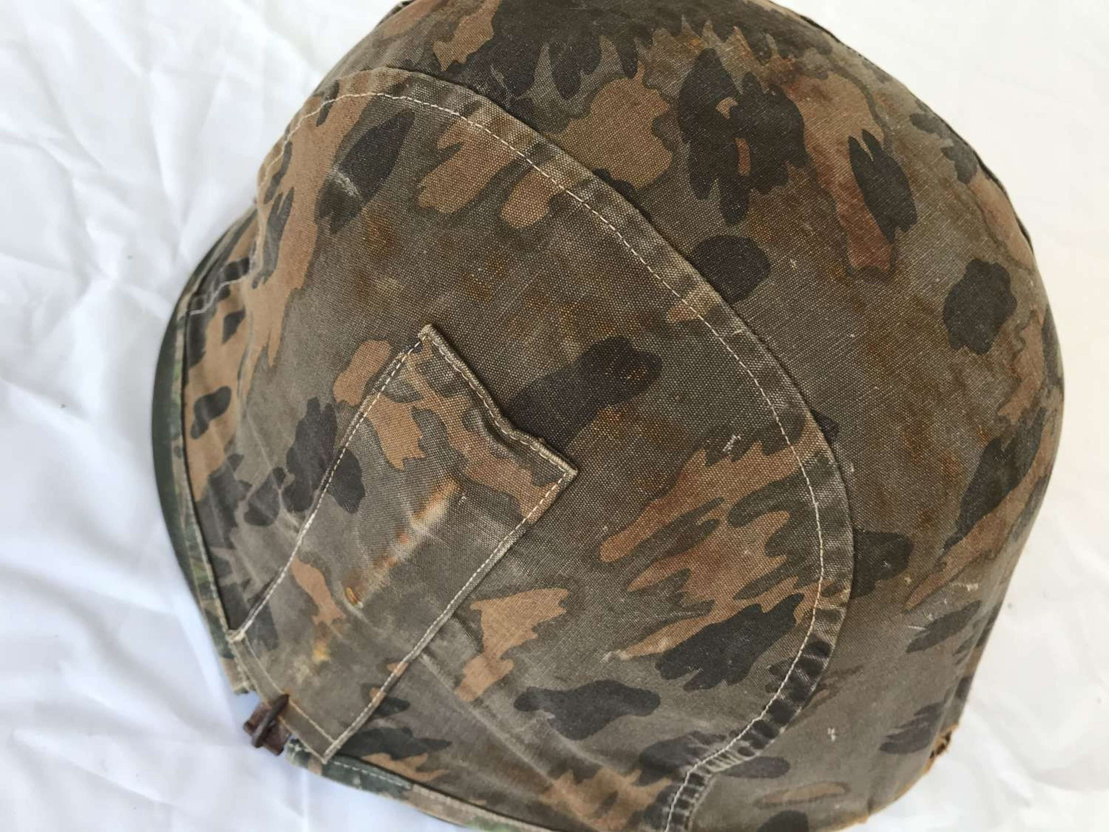 Reproduction Waffen Ss helmet with Camo cover