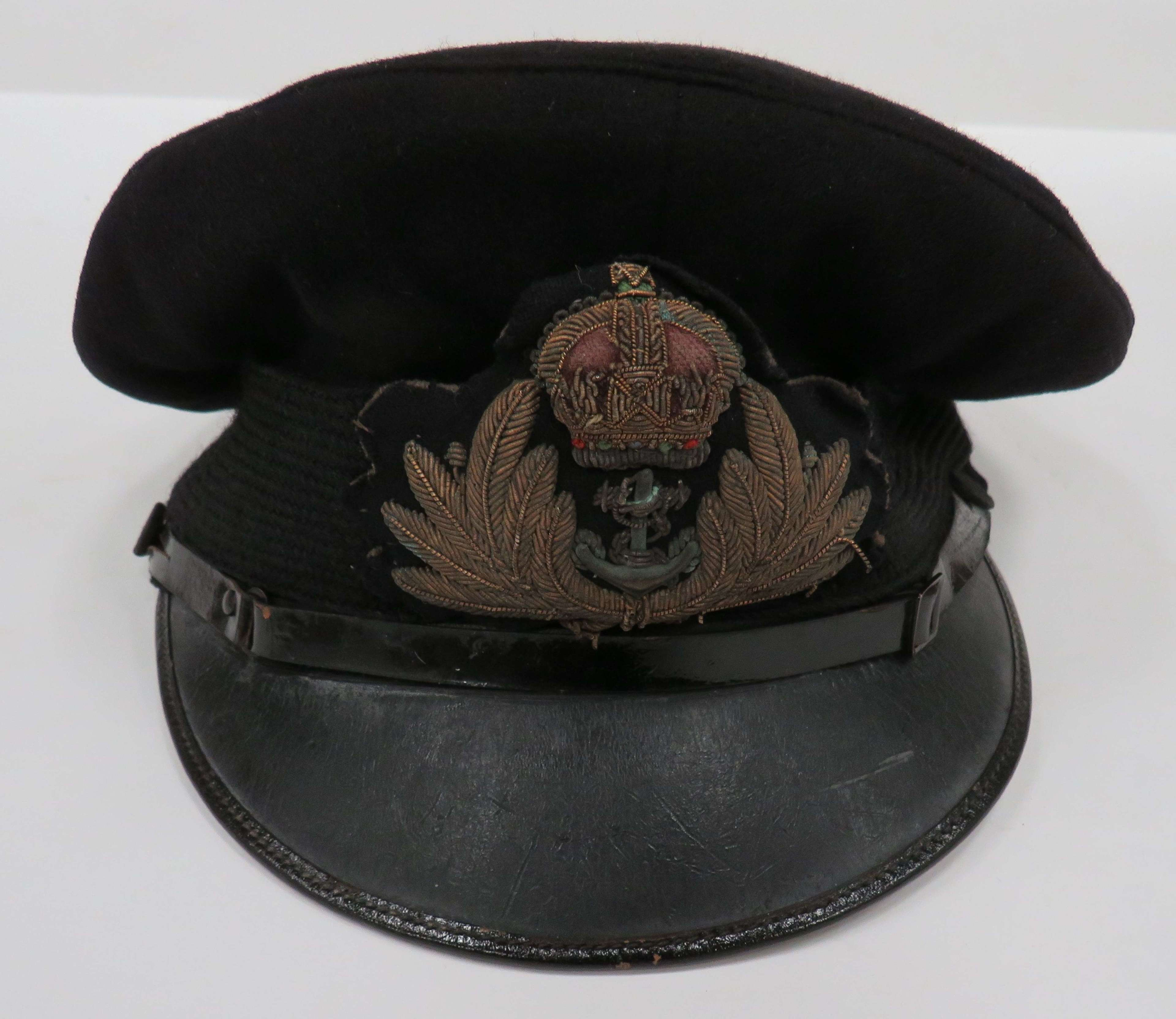 WW 1 Period Royal Navy Officers Service Dress Cap