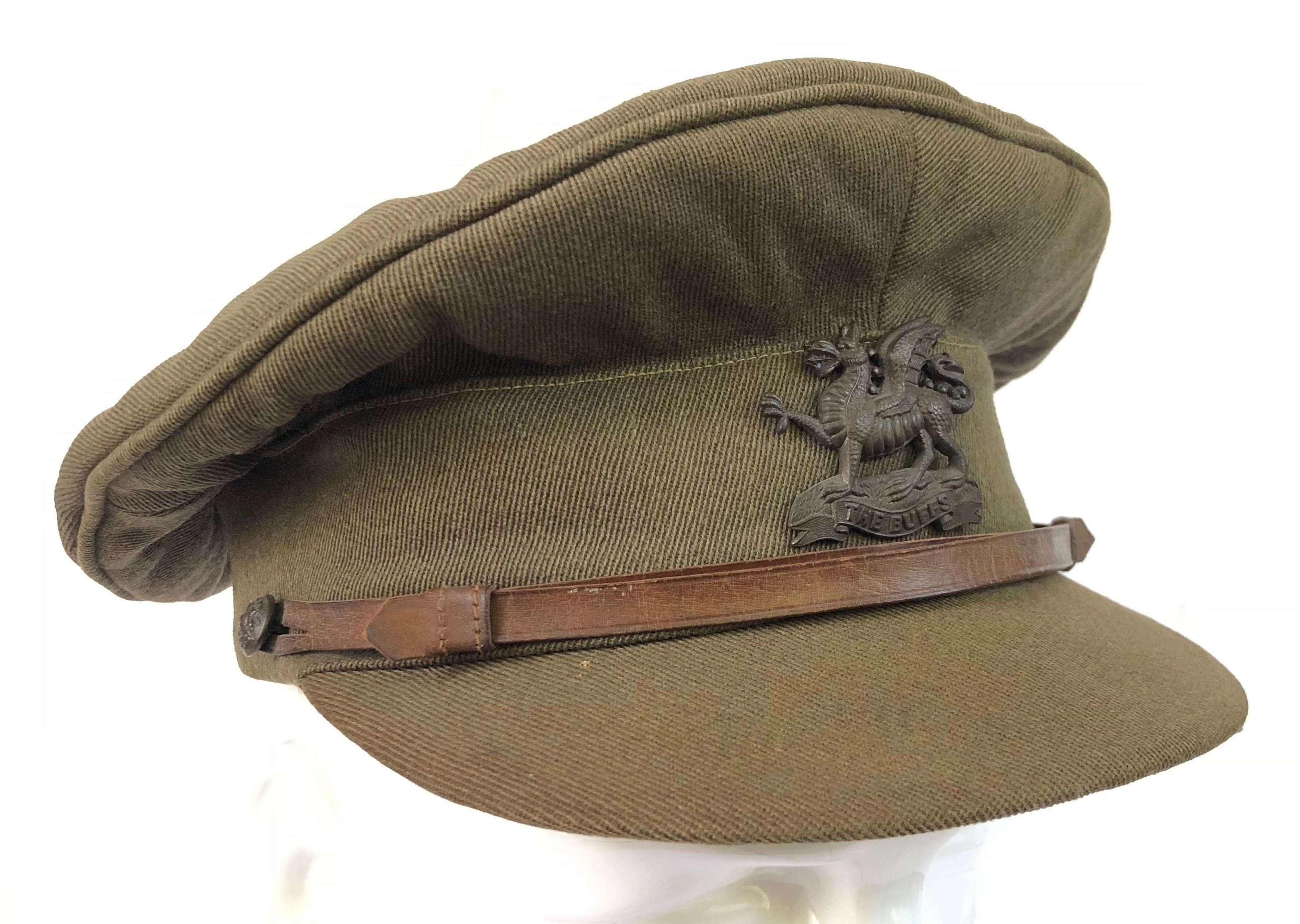 """WW1 Original """"The Buffs"""" Royal East Kent Regiment Officer's Cap"""