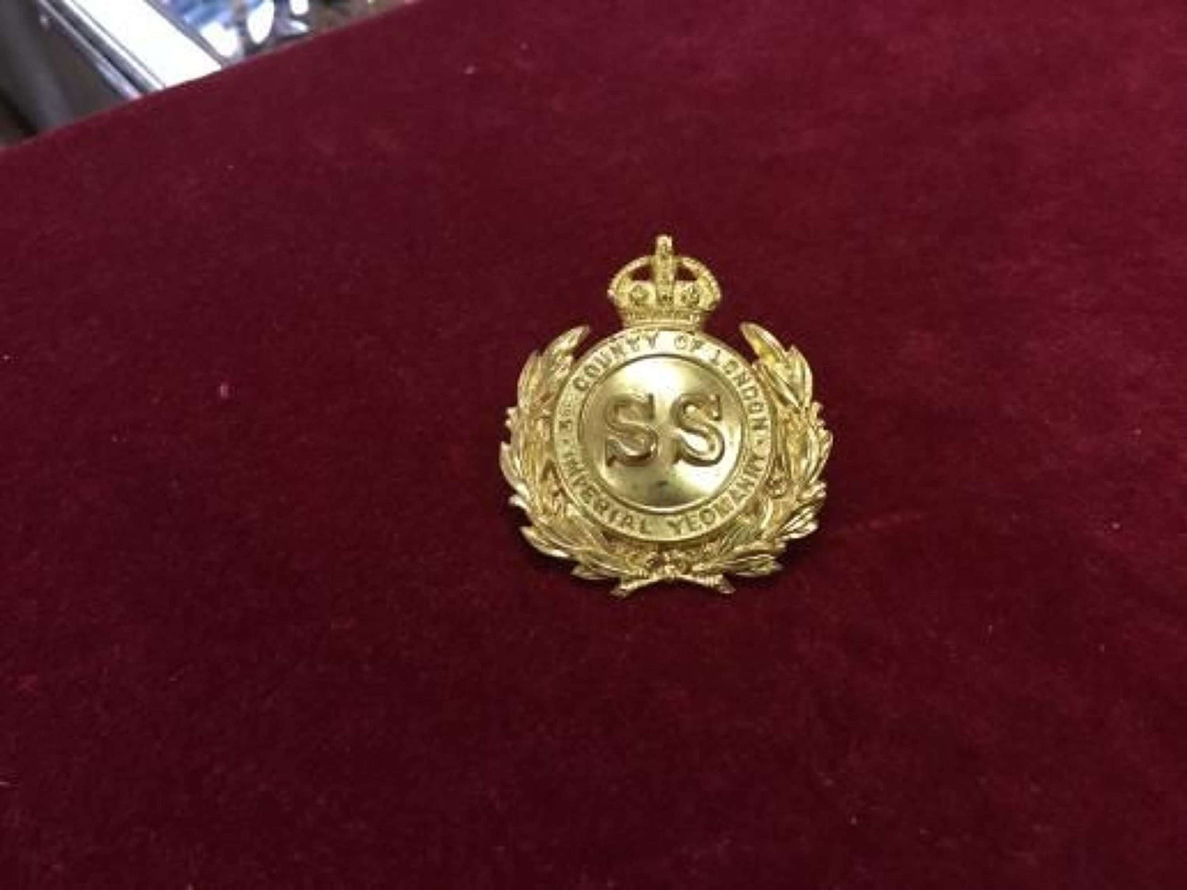 3rd County of London Imperial Yeomanry Cap Insignia