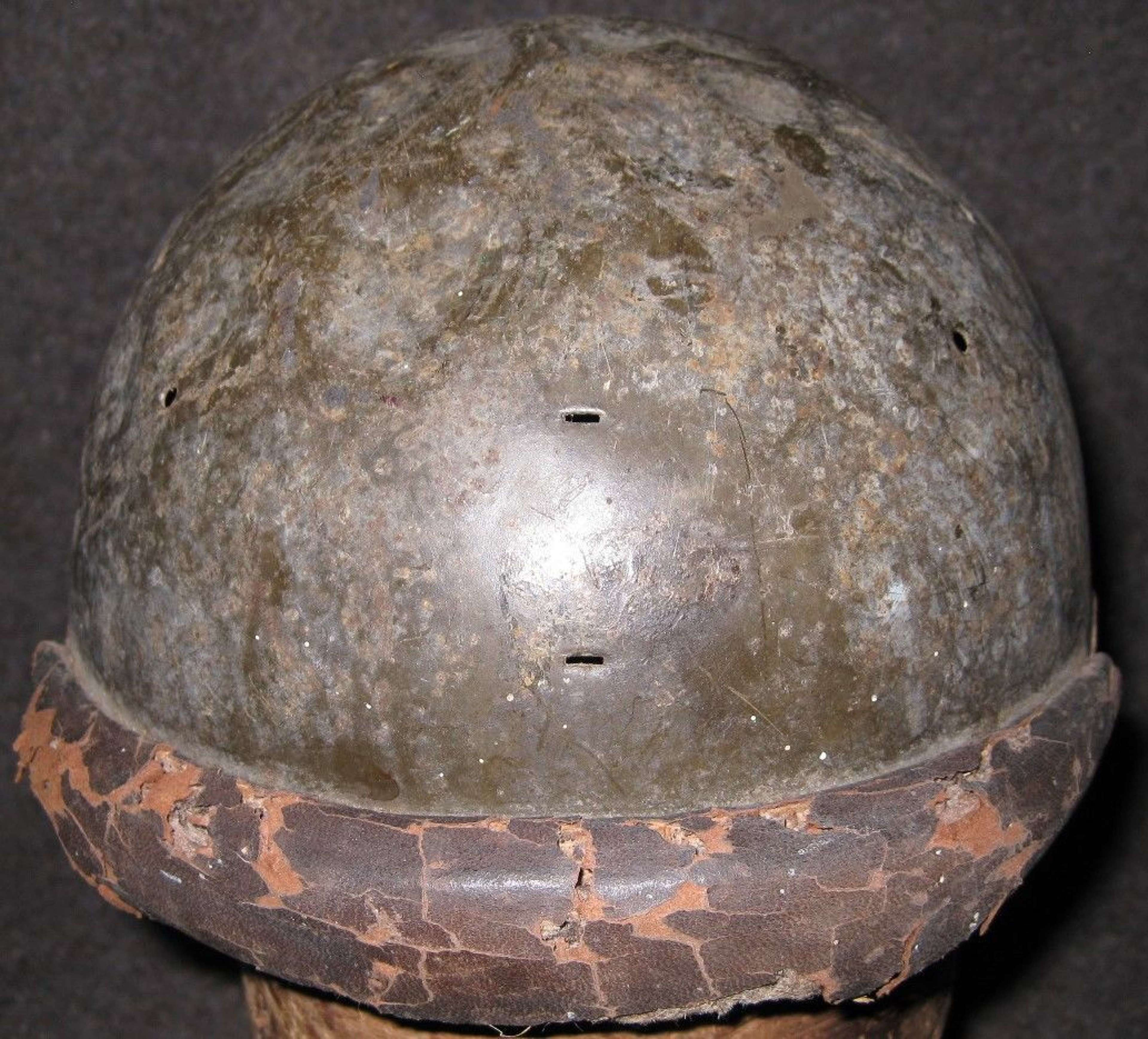 A RECENT FRENCH SHED FIND RELIC M35 FRENCH HELMET