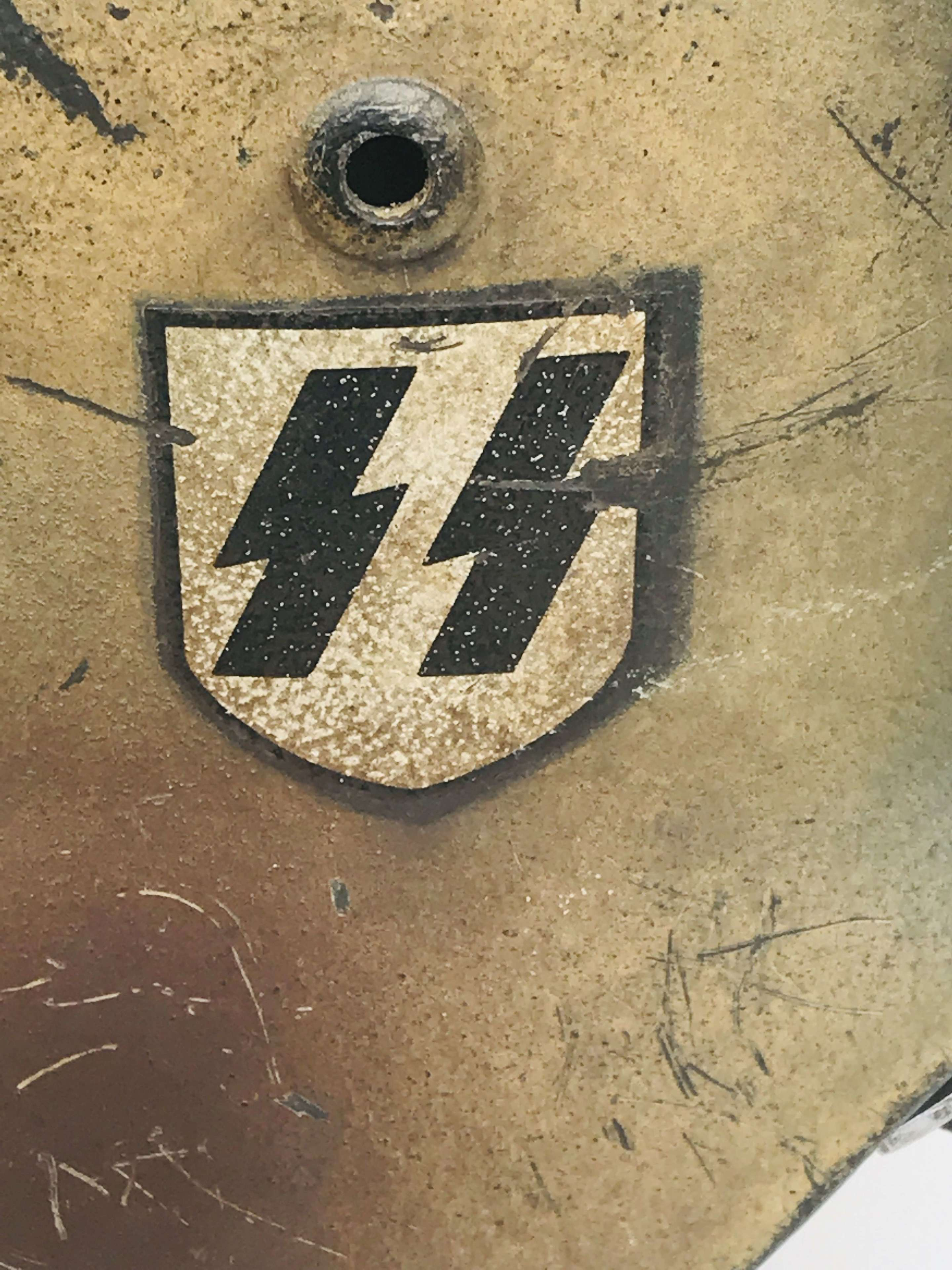 Reproduction Waffen SS Normandy camo helmet