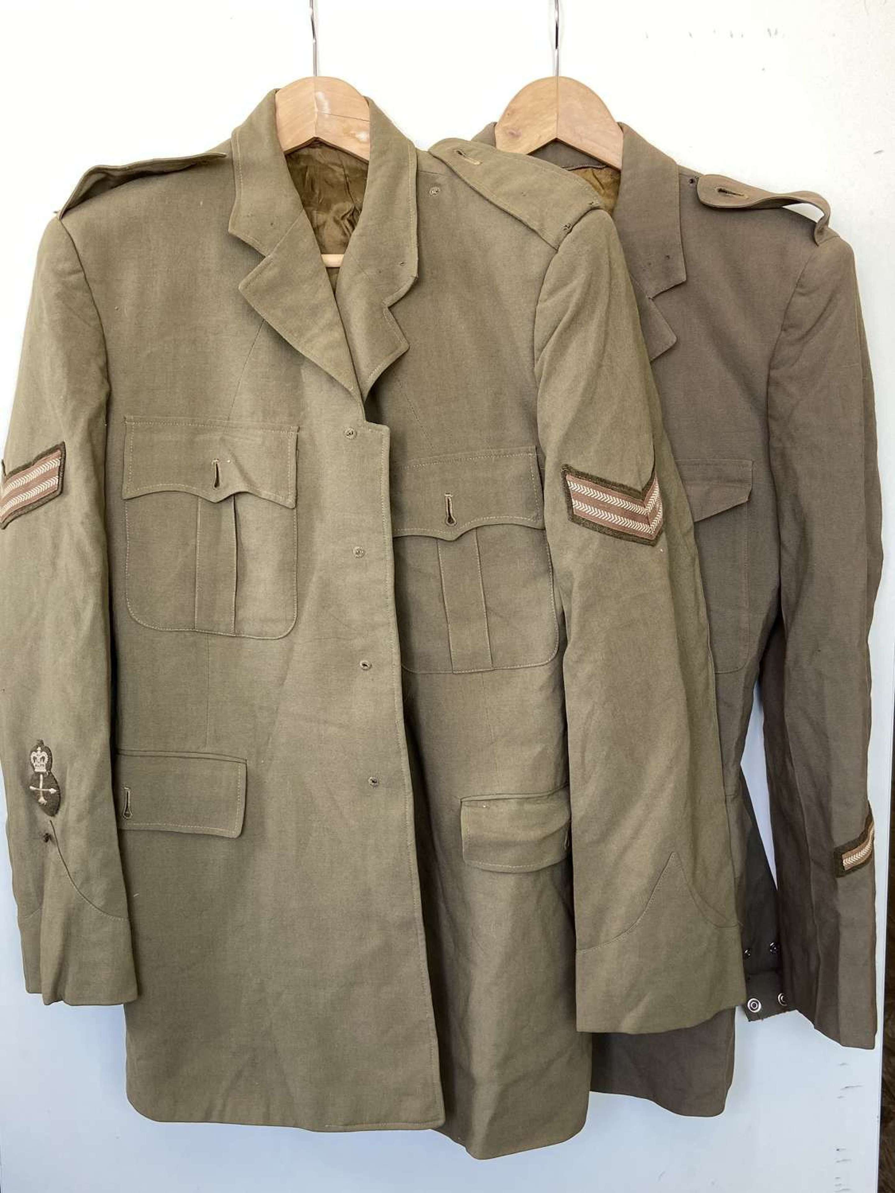 Pair of 1962 & 1954 Canadian Army Medical Summer Tunics