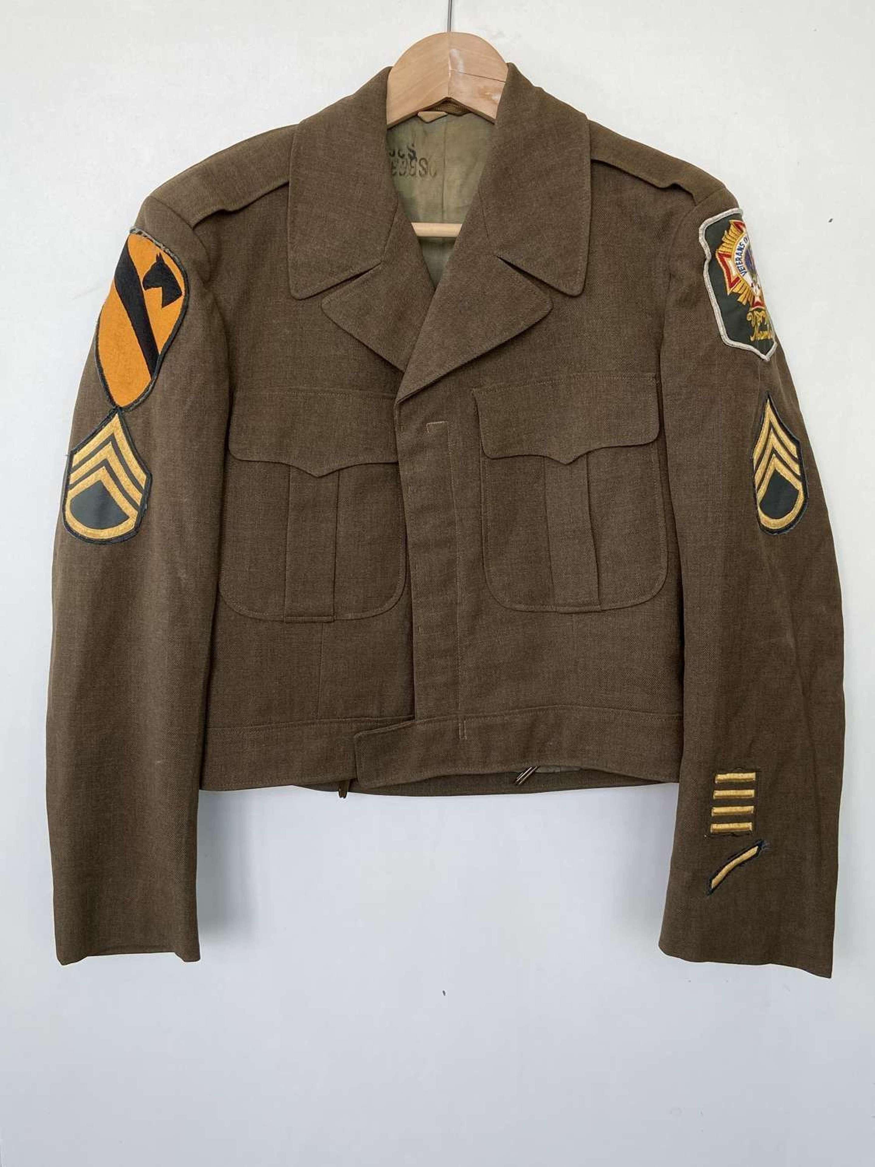 Post WW2 M-1950 United States Army 1st Cavalry Wool Jacket