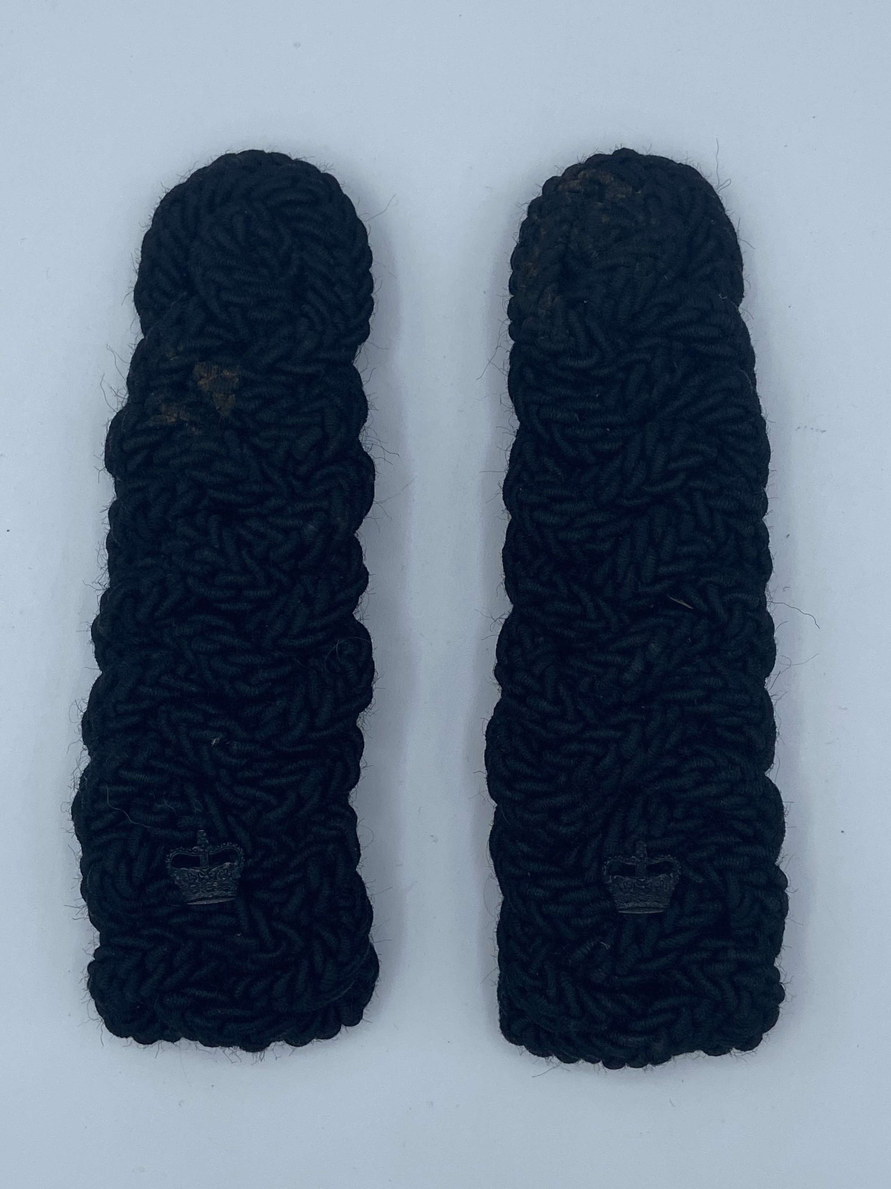 Post WW2 The Rifles Warrant Officer Black Cord Crown Epaulettes