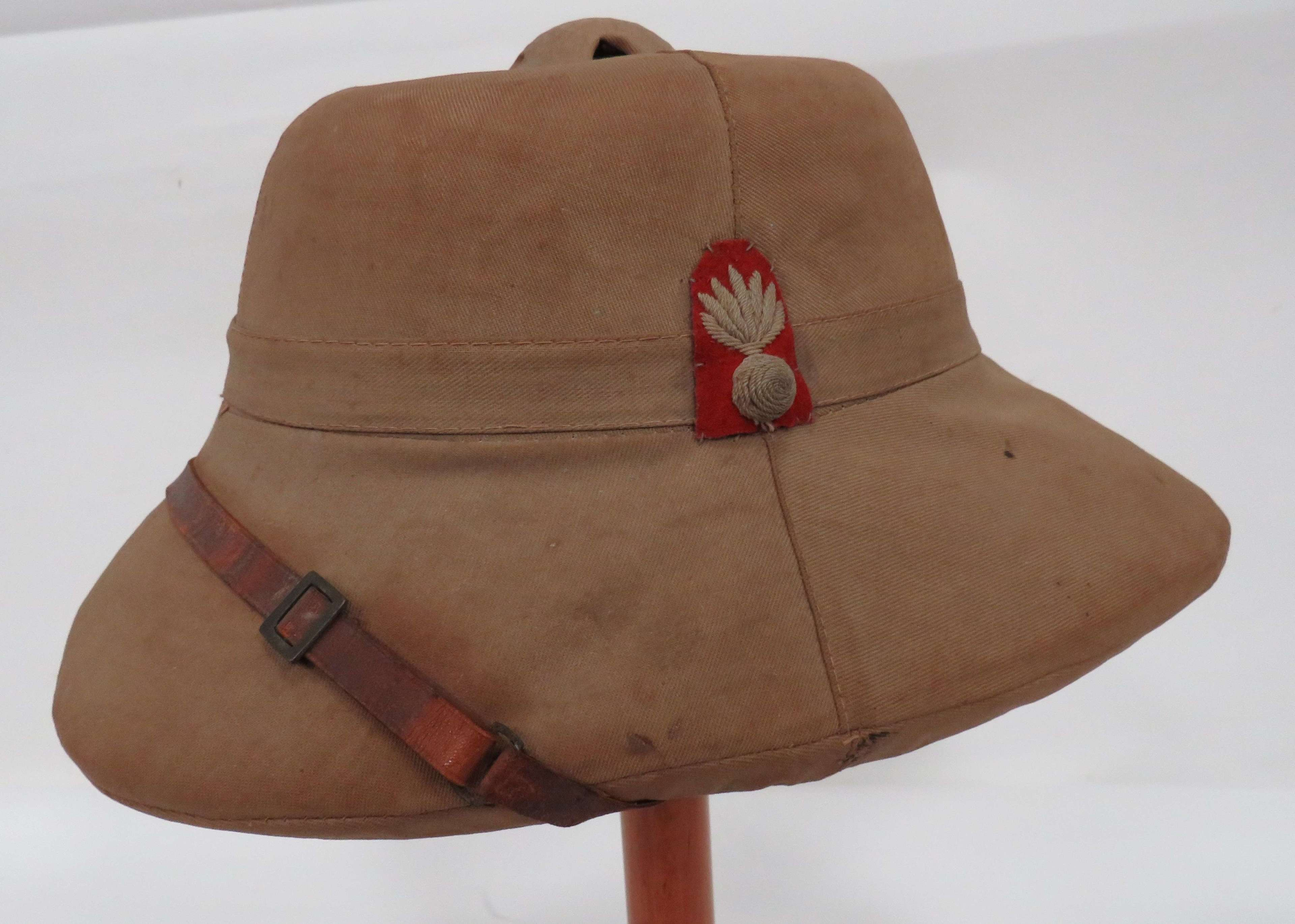 WW 2 Fusiliers Officers Tropical Pith Helmet