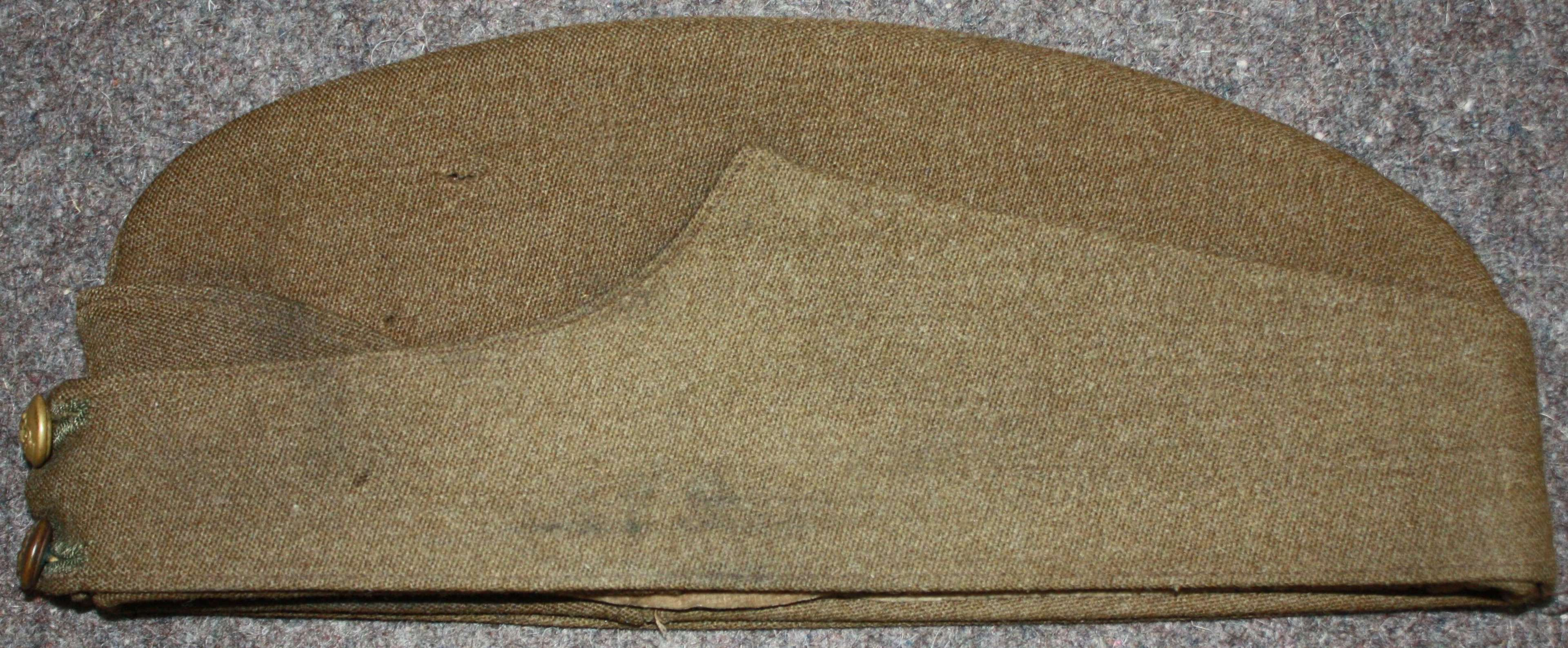 A WWII OFFICERS SIDE CAP