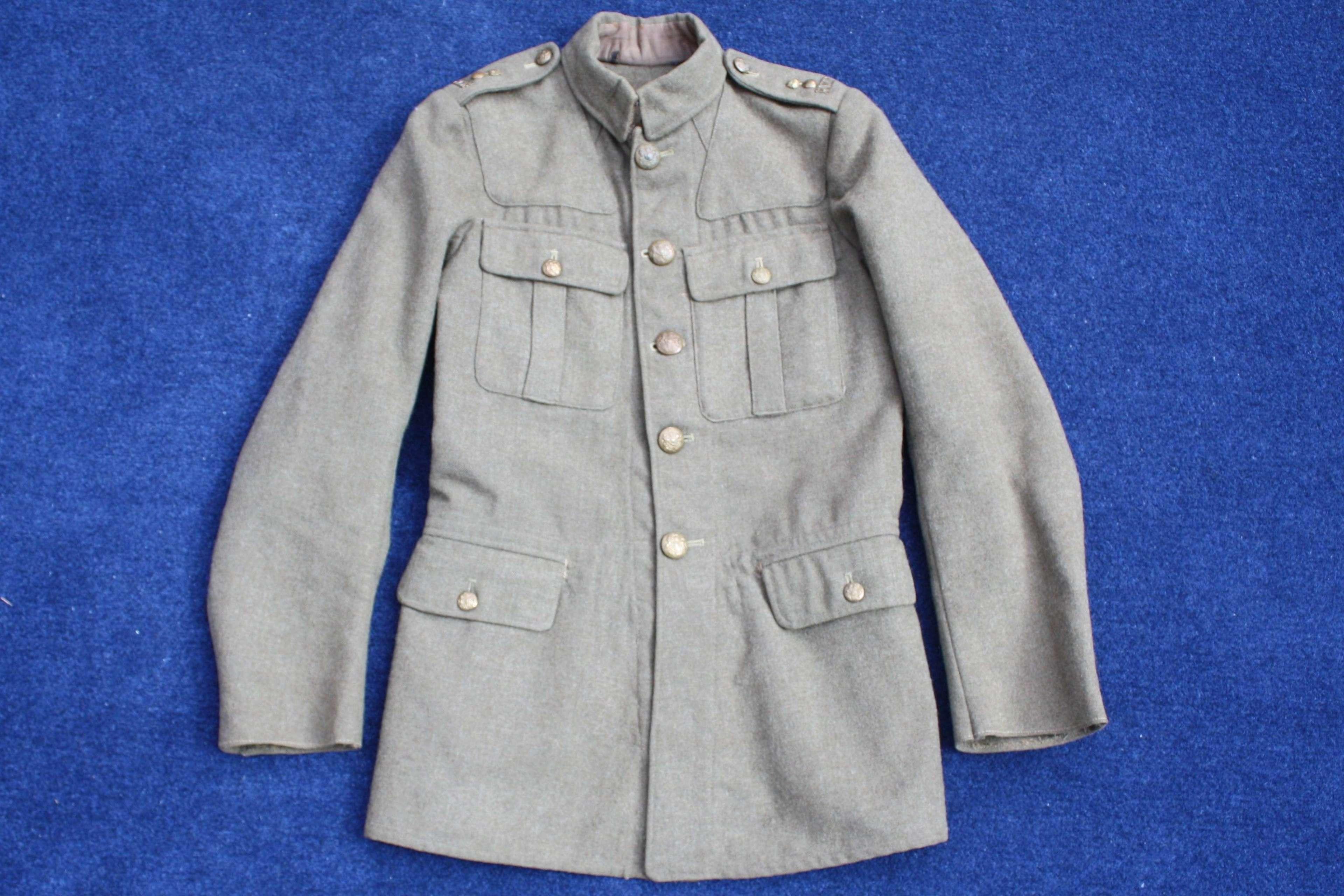 1902 PATTERN BRITISH ARMY LATE WW1 SERVICE DRESS TUNIC RWF