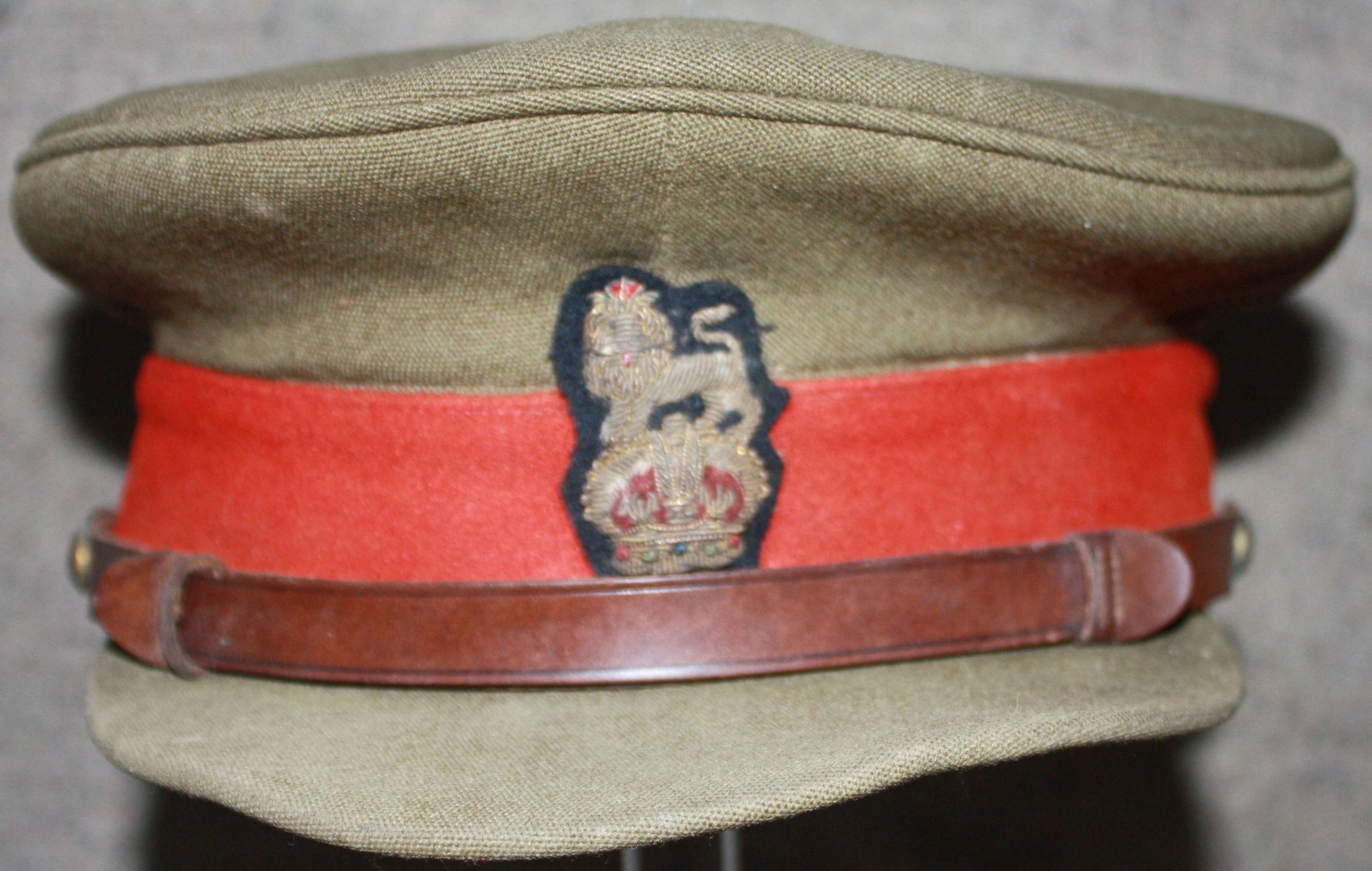 A EARLY POST WAR COLONELS FIELD SERVICE CAP 1952-53 PERIOD