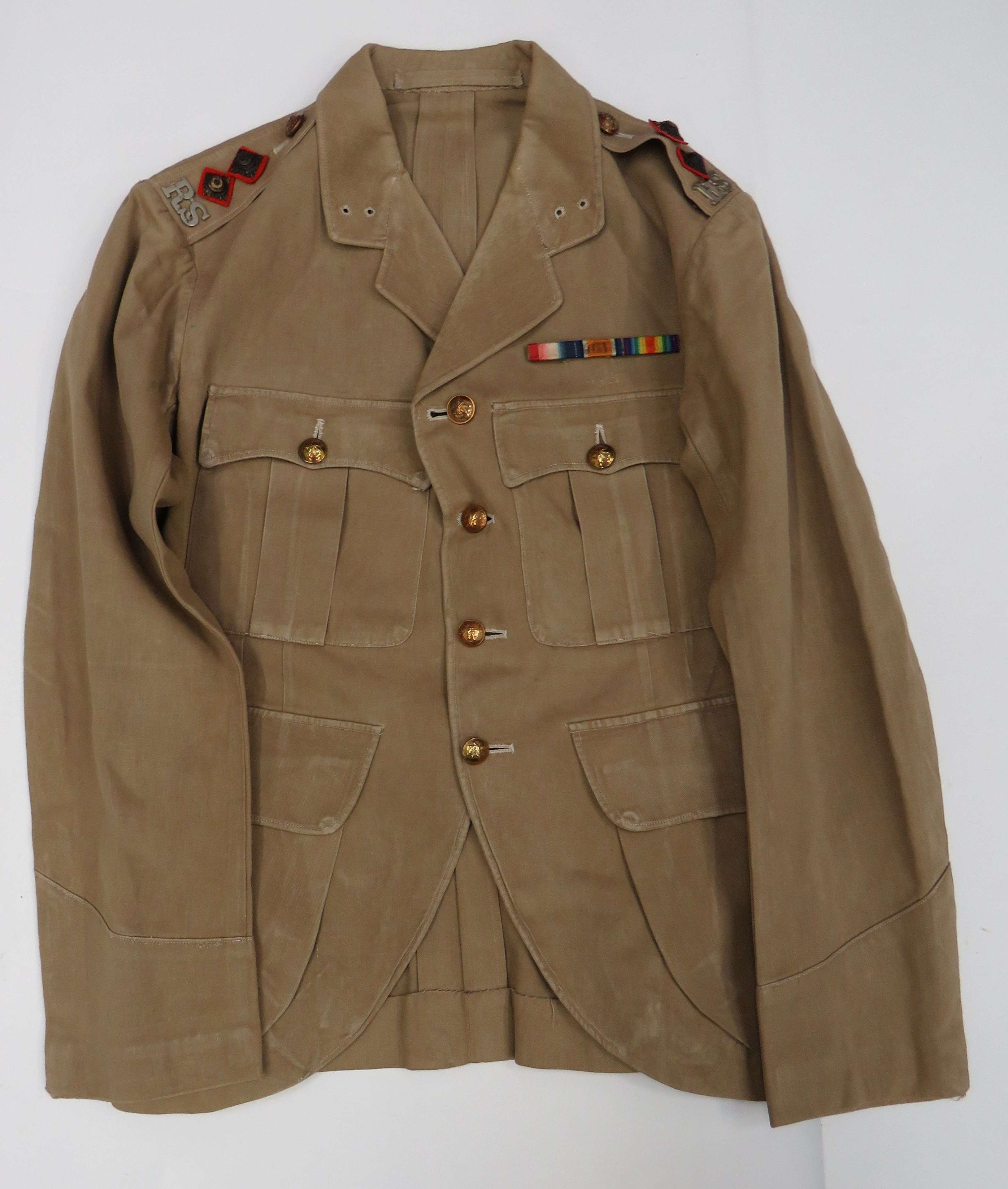 WW1 Pattern Royal Scots Officer Tropical Doublet Tunic