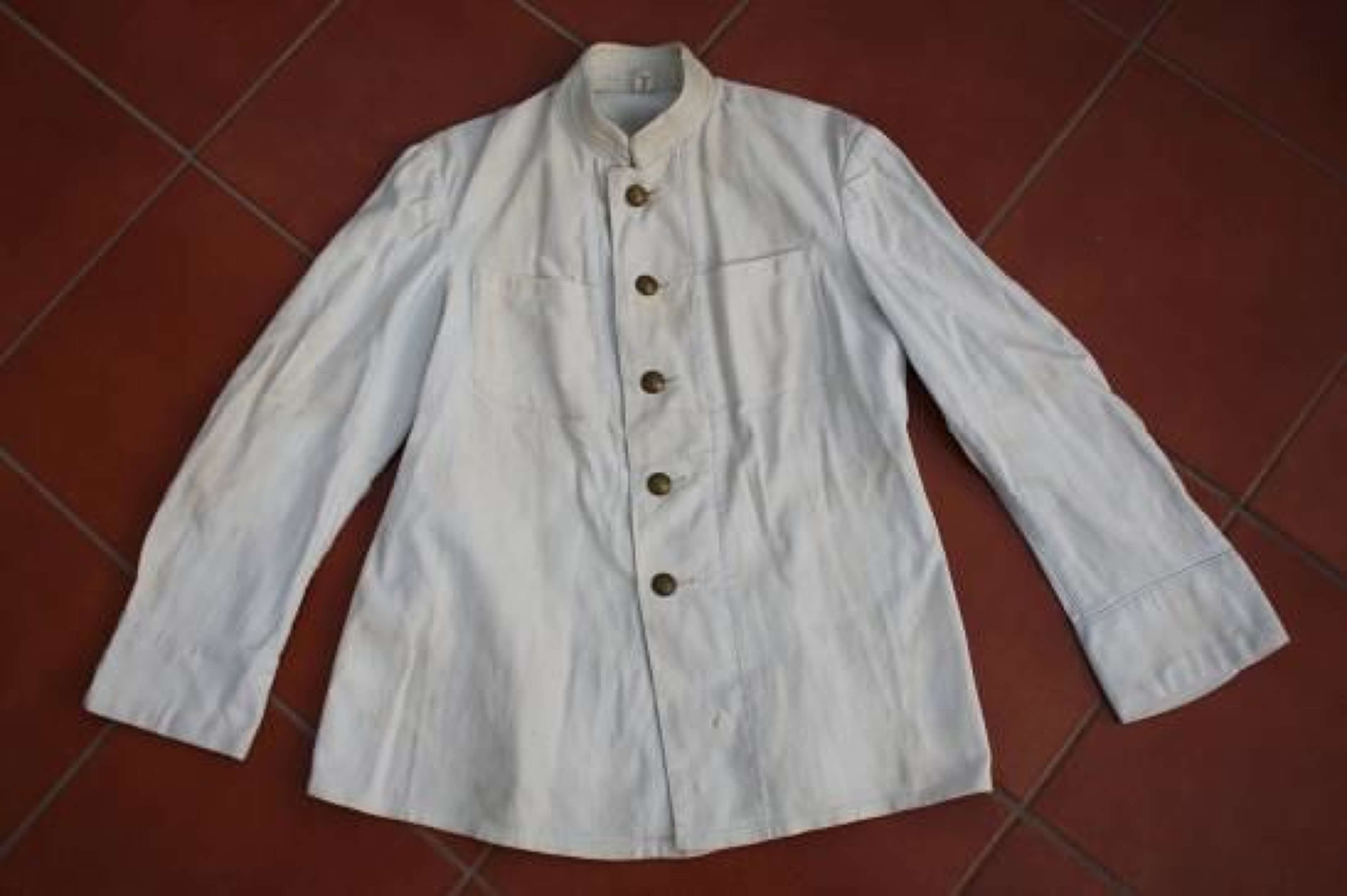 WW1 IMPERIAL RUSSIAN NAVY WHITE TUNIC