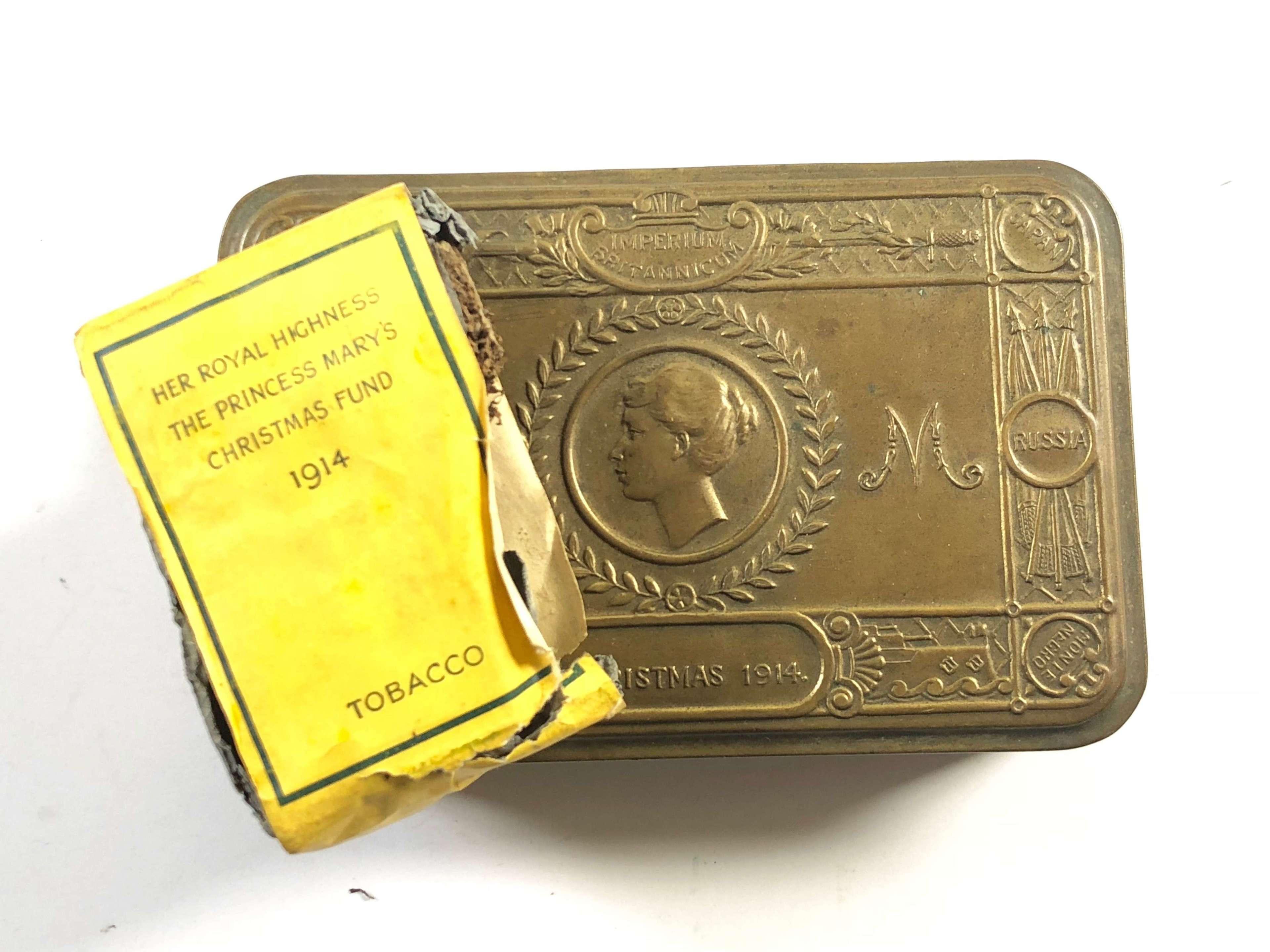 WW1 1914 Princess Mary Gift Tin & Tobacco.