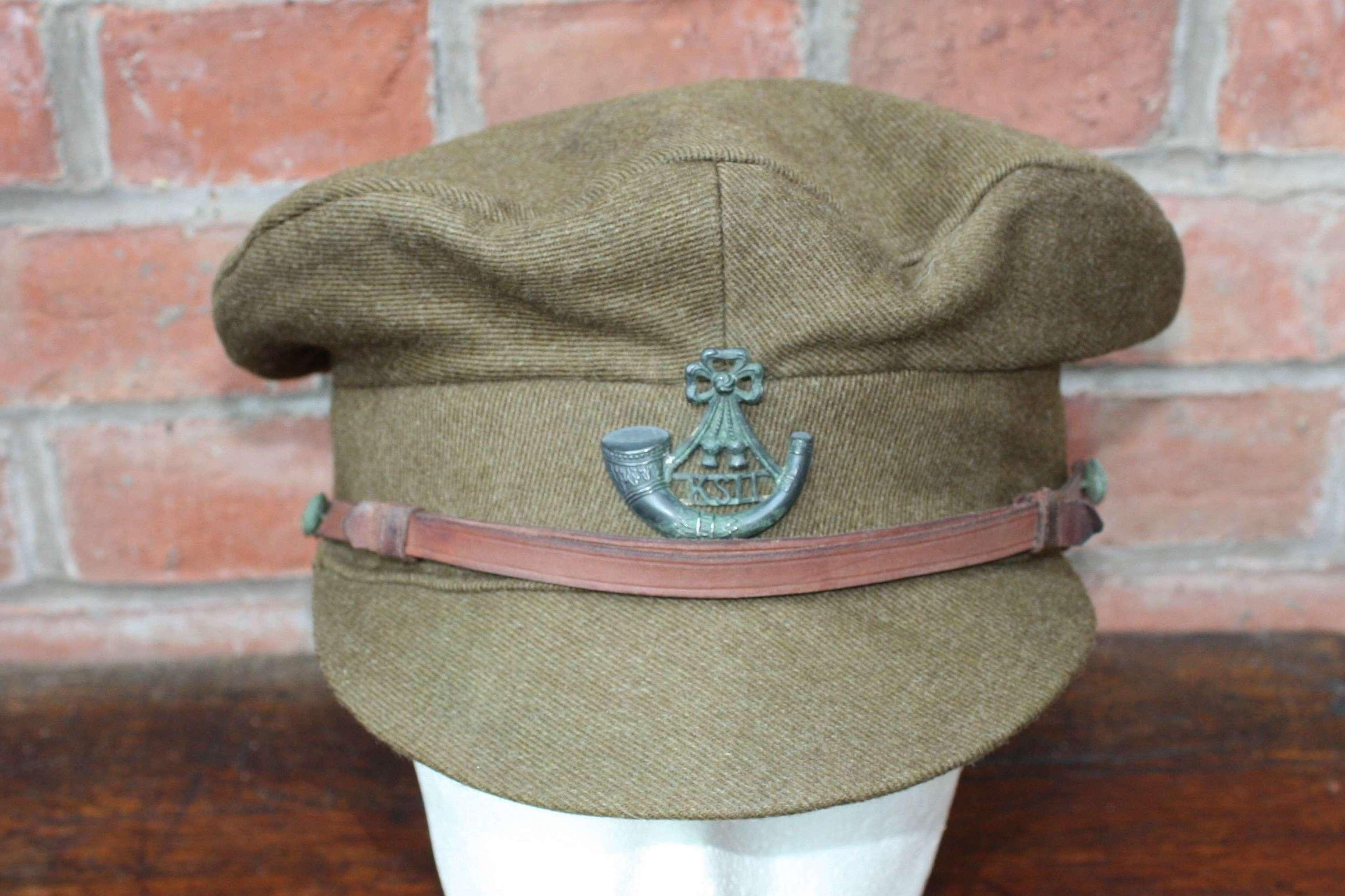 WW1 BRITISH OFFICERS FLOPPY STYLE KHAKI CAP KSLI