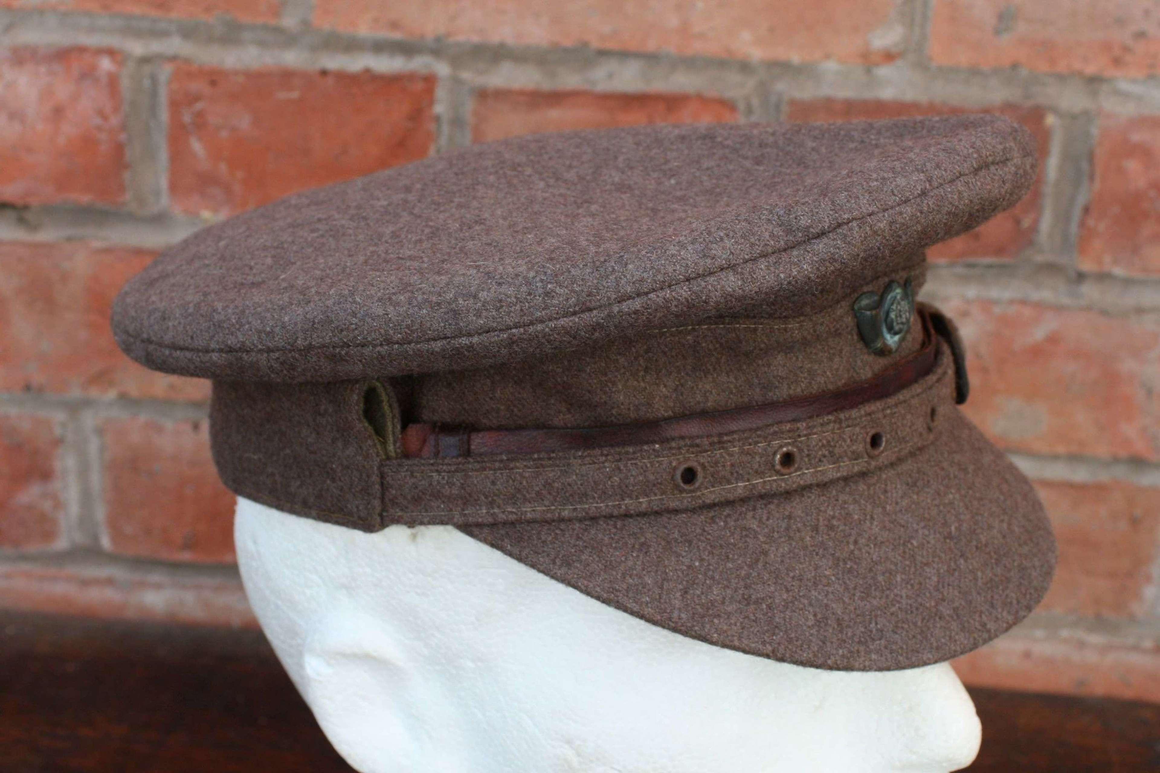 WW1 BRITISH ARMY OFFICER'S 'COR BLIMEY' CAP KOYLI KINGS OWN YORKSH