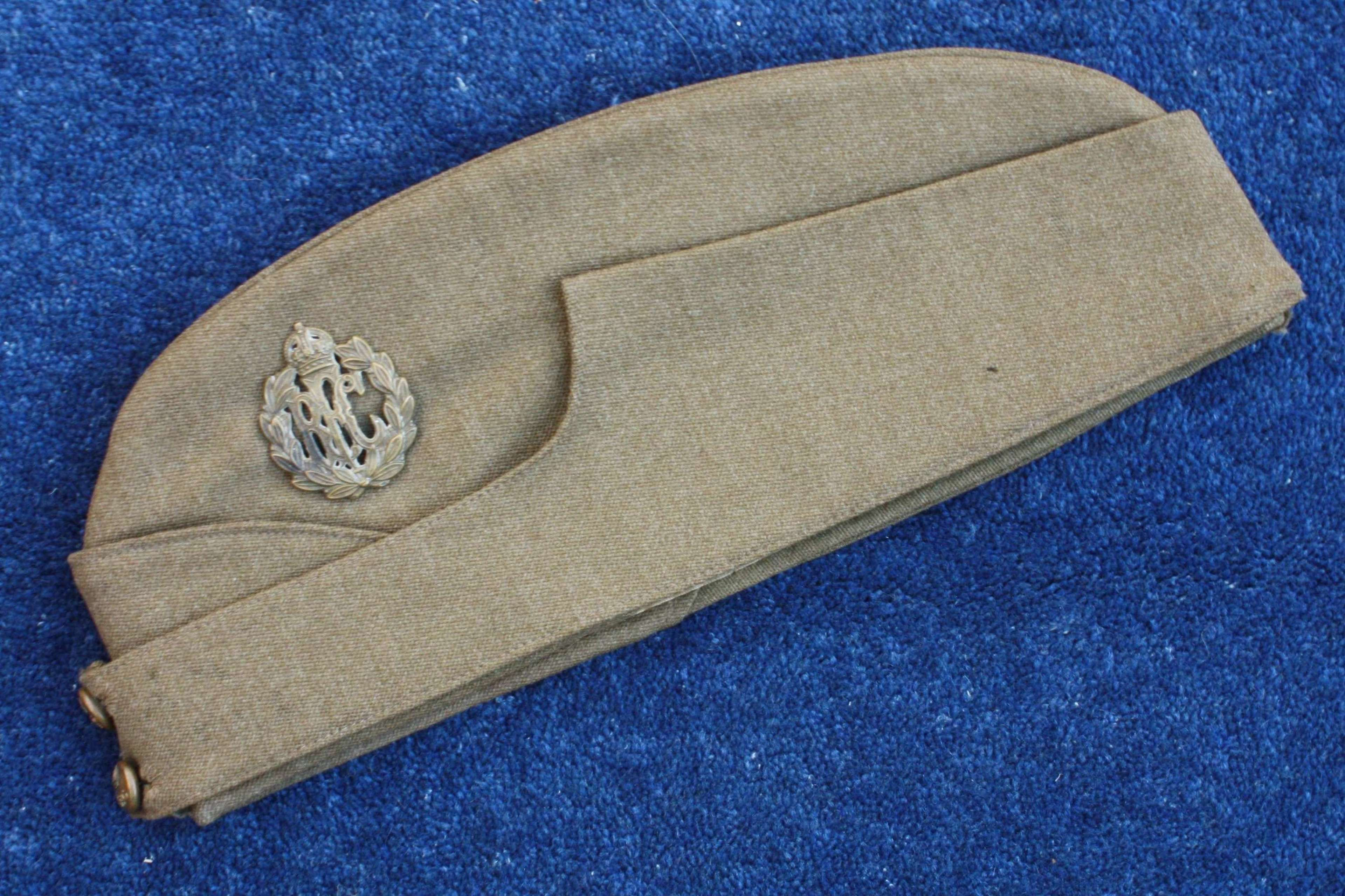 RFC WW1 Officers Royal Flying Corps Khaki Side Cap