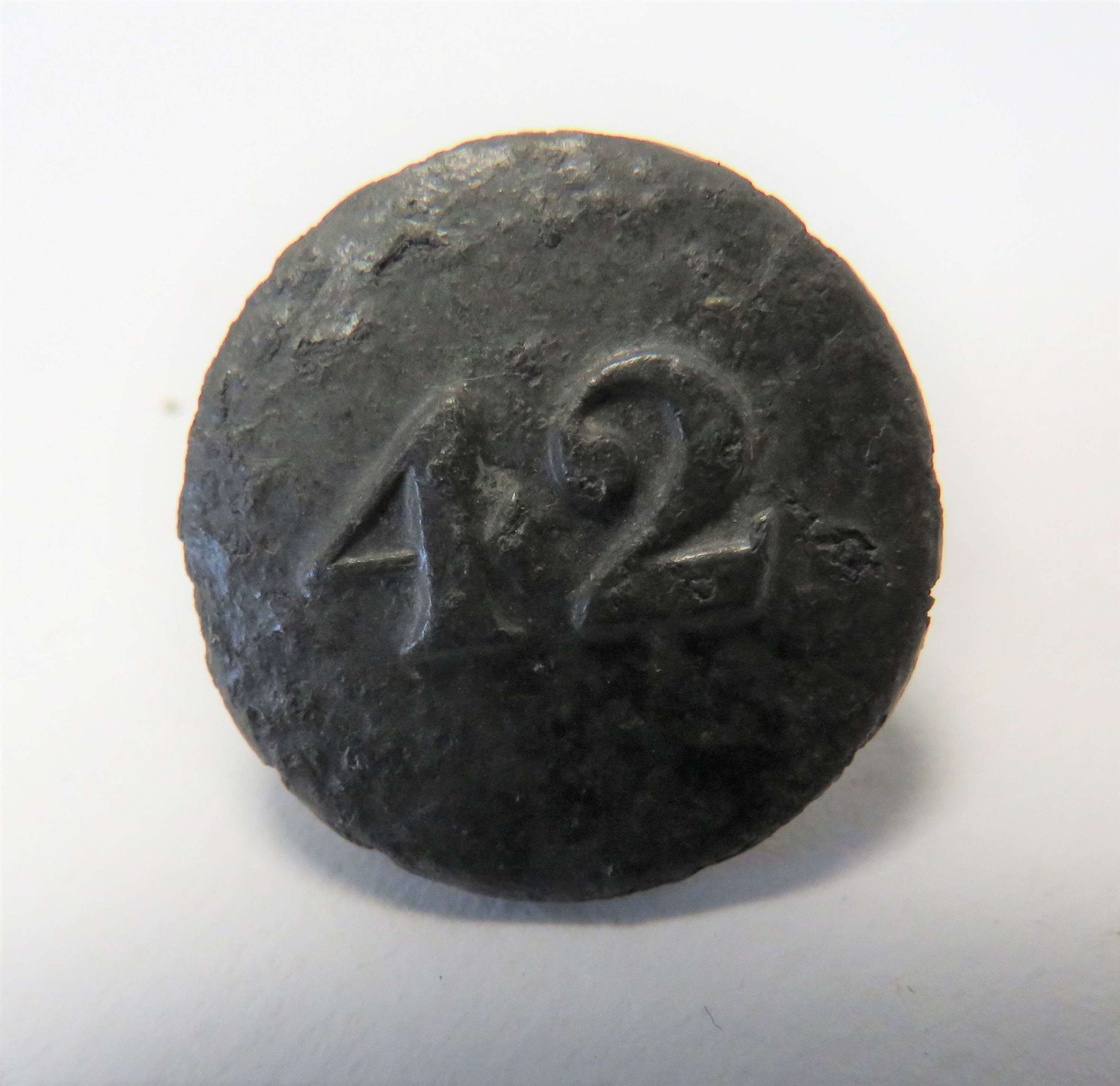 42nd Foot Flat Back Early Button