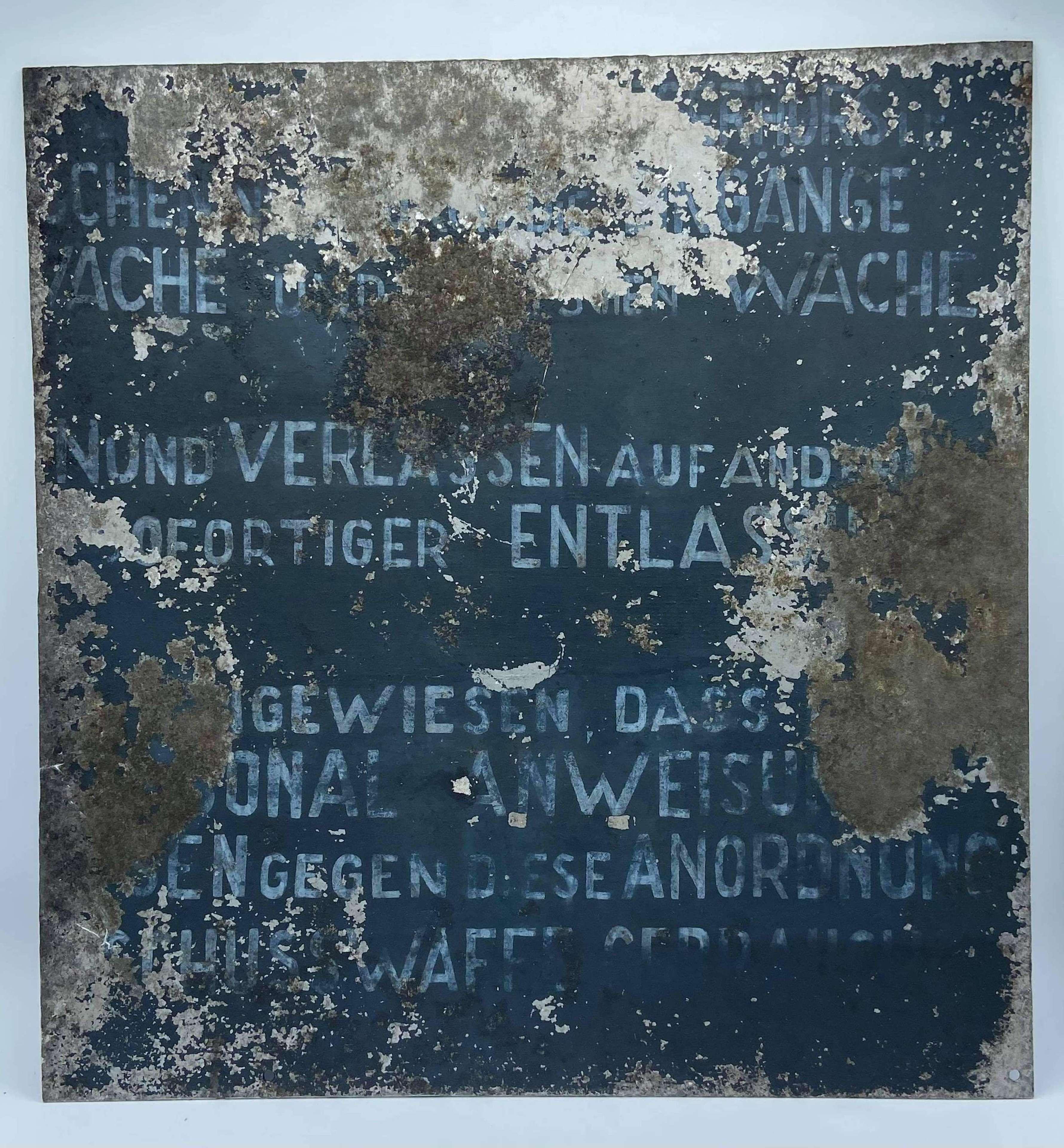 Vintage 1970s Berlin Wall Guard Tower Warning Shoot On Sight Sign