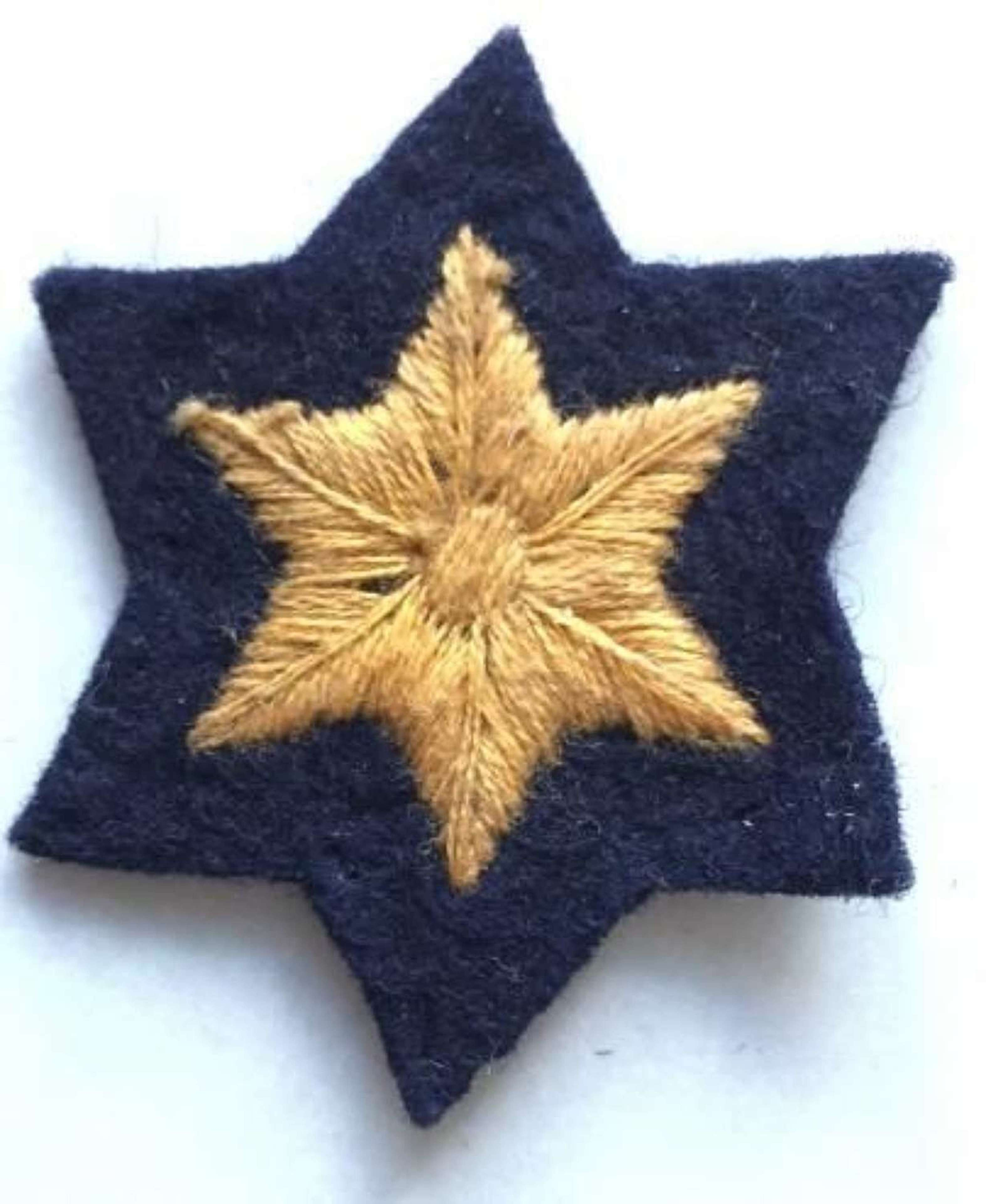 Pre 1949 Civil Defence Rank Star