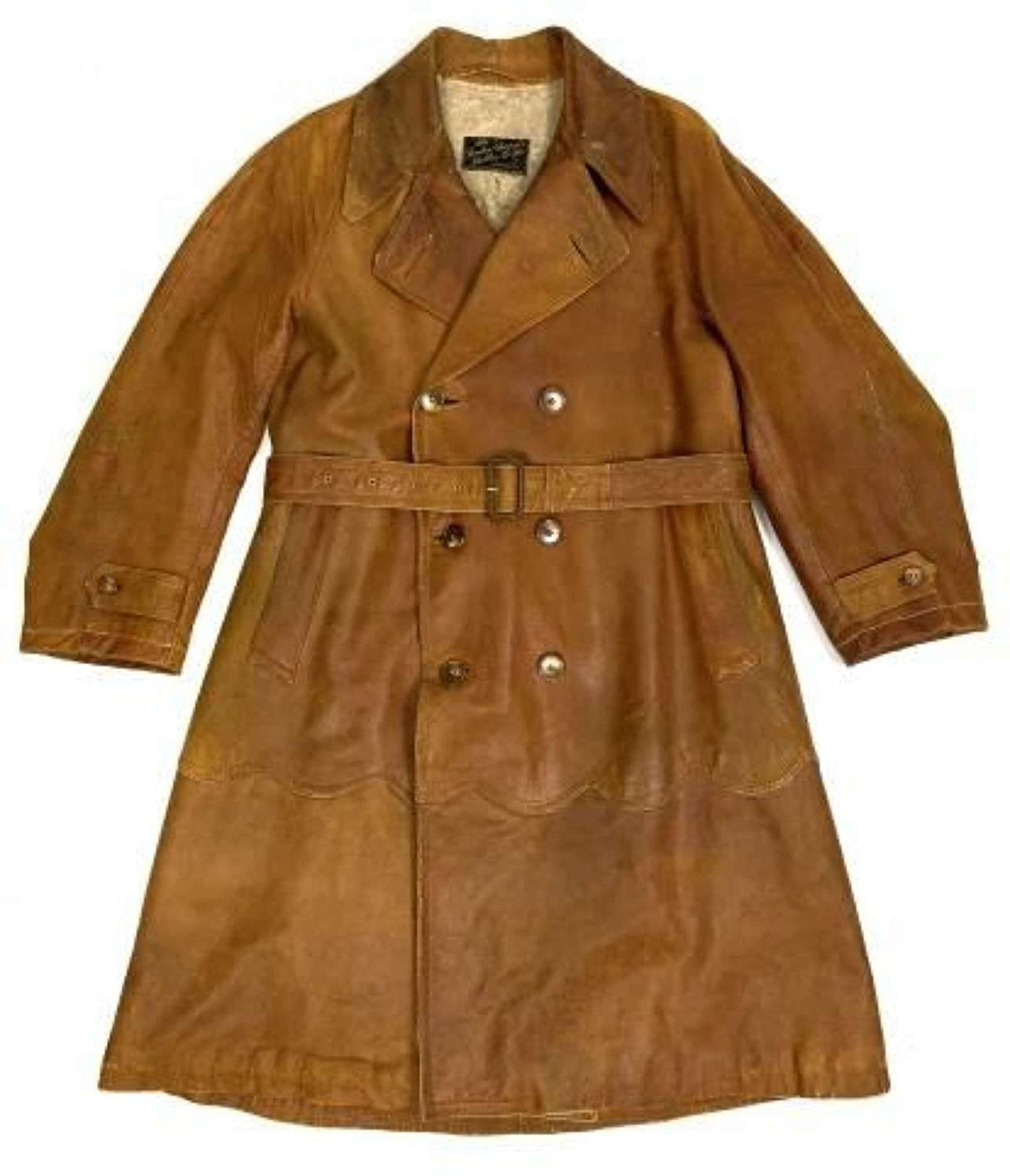 Original Great War Period RFC Leather Flying Coat