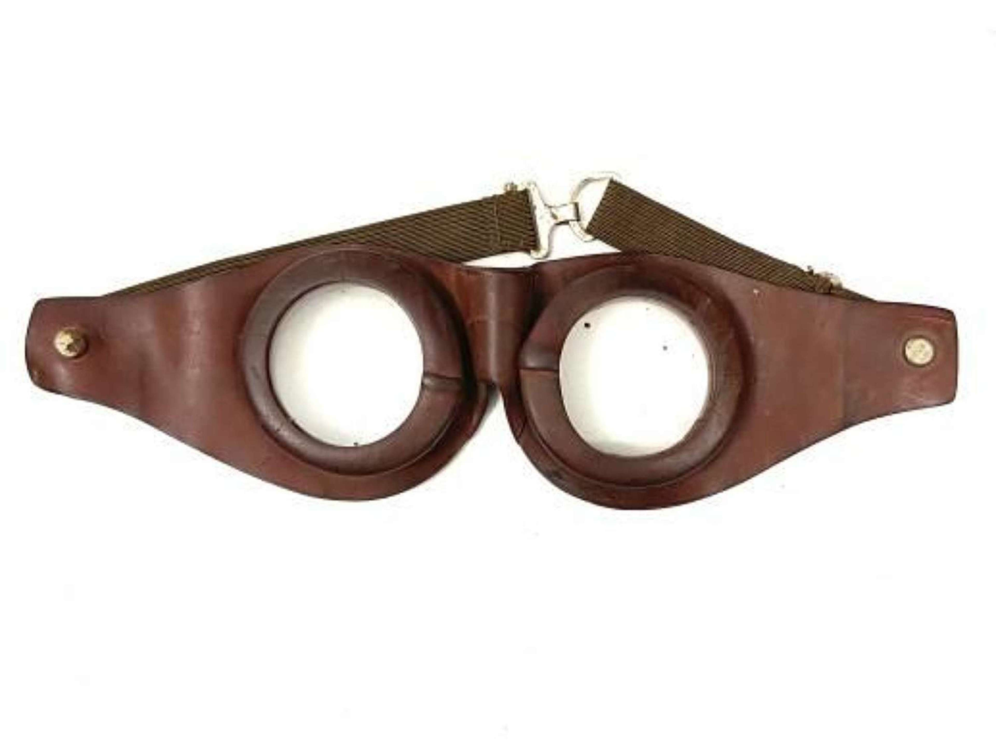Original Early Great War Rubber Goggles - RFC MK 1