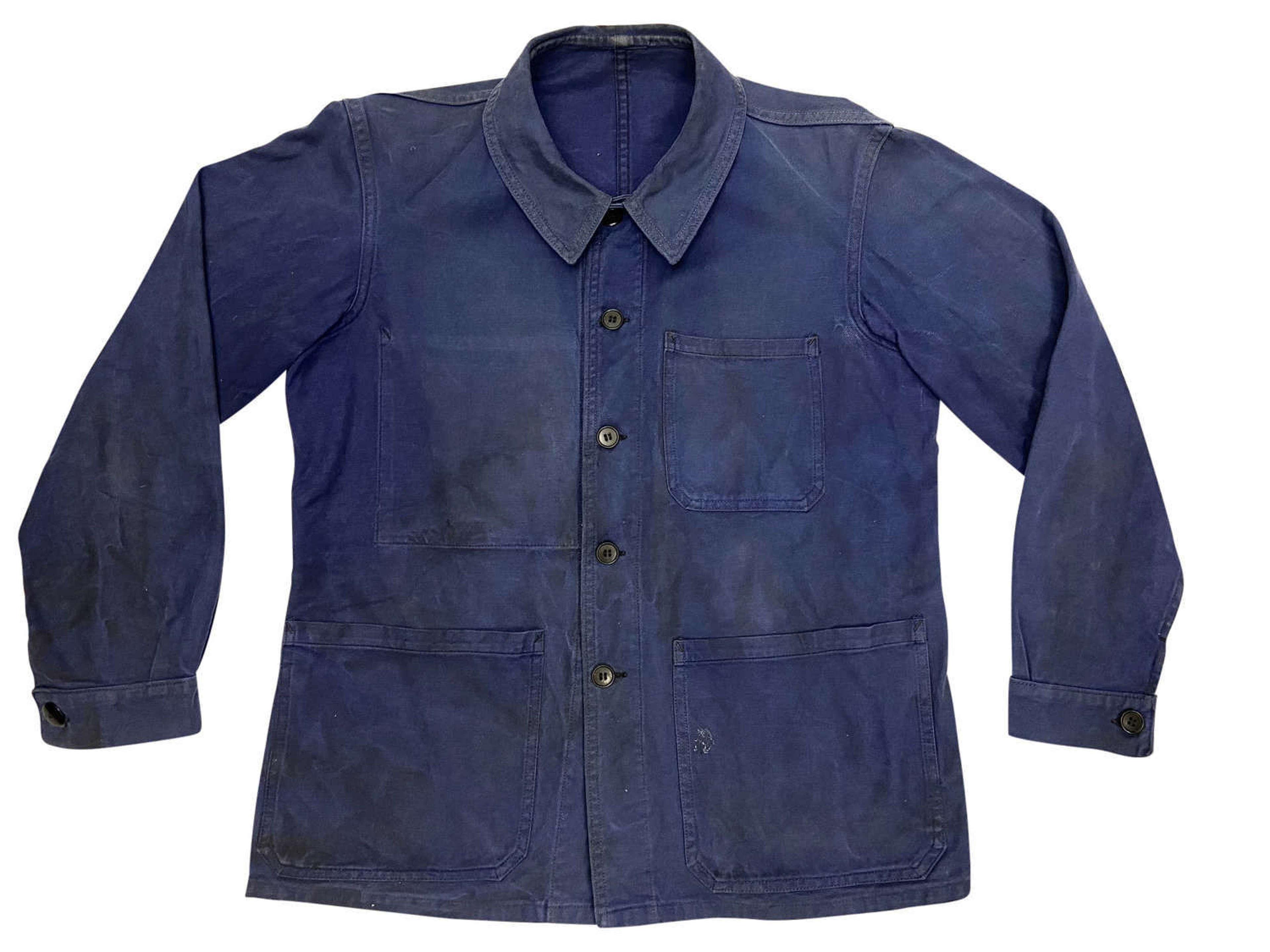 Original 1960s Blue French Workwear Chore Jacket