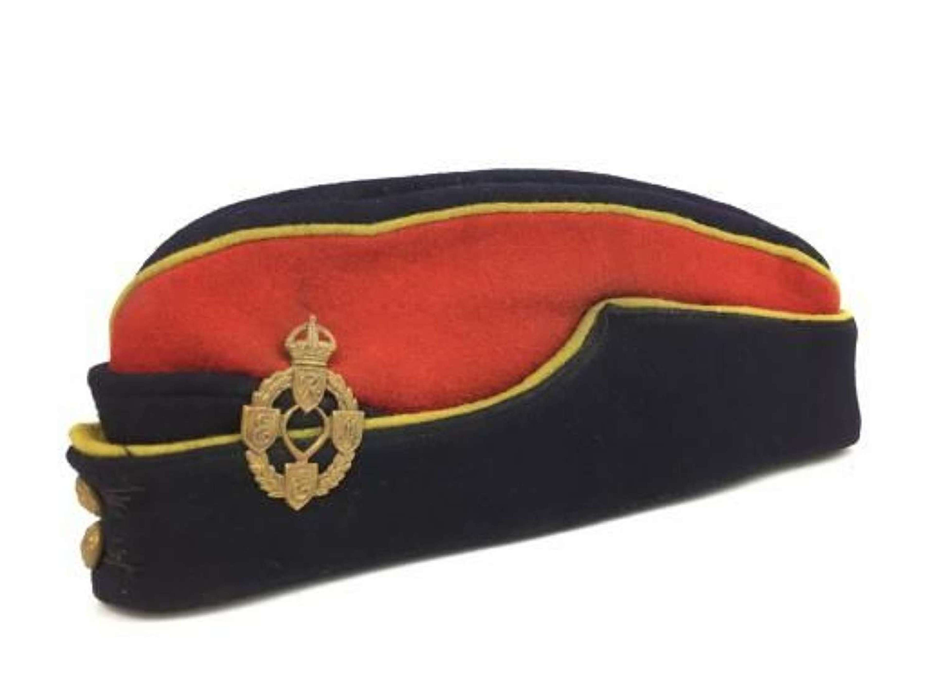 Original WW2 Royal Electrical and Mechanical Engineers Coloured Side Cap
