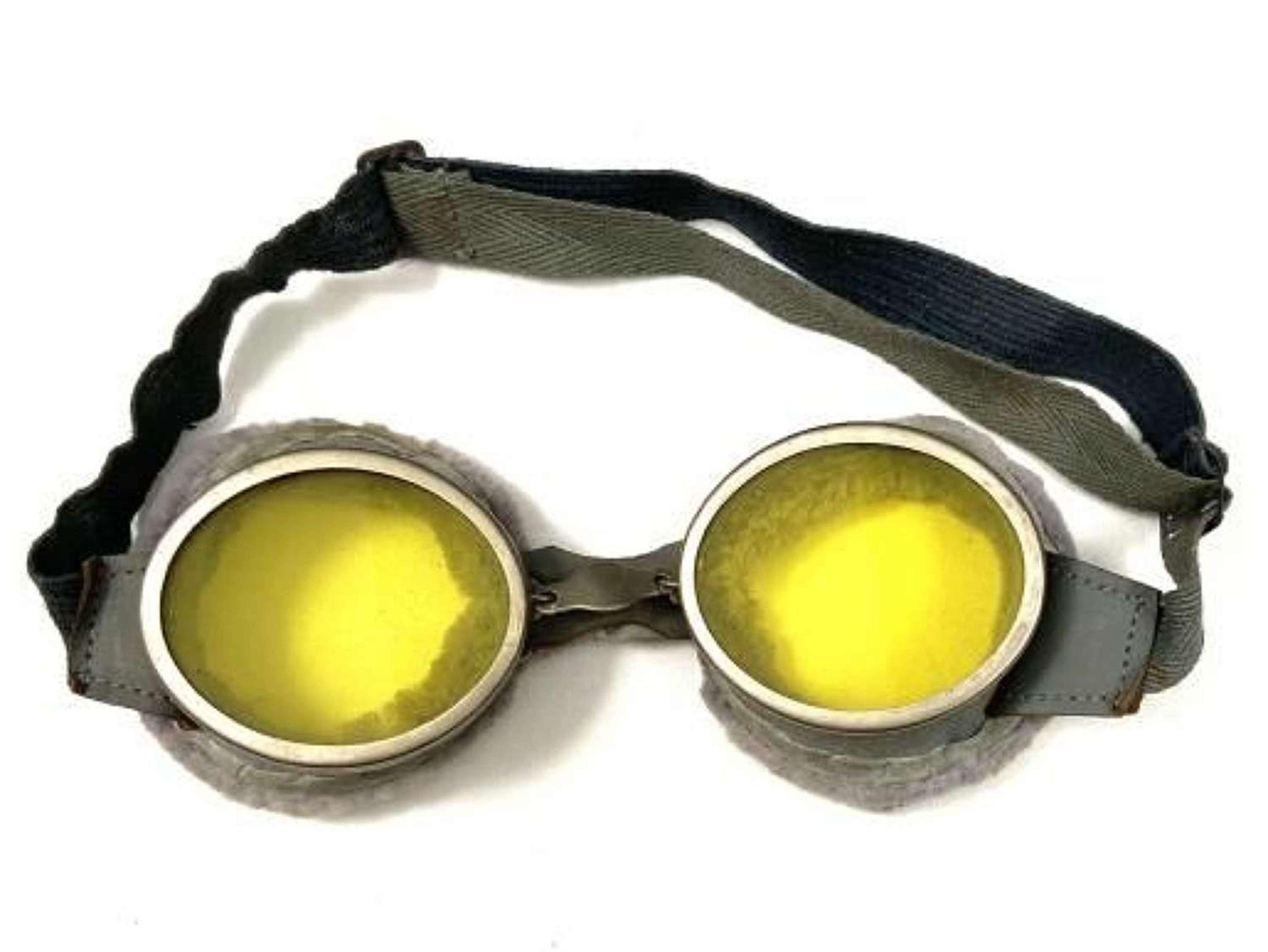 Original 1940 Dated British Army MT Goggles + Case