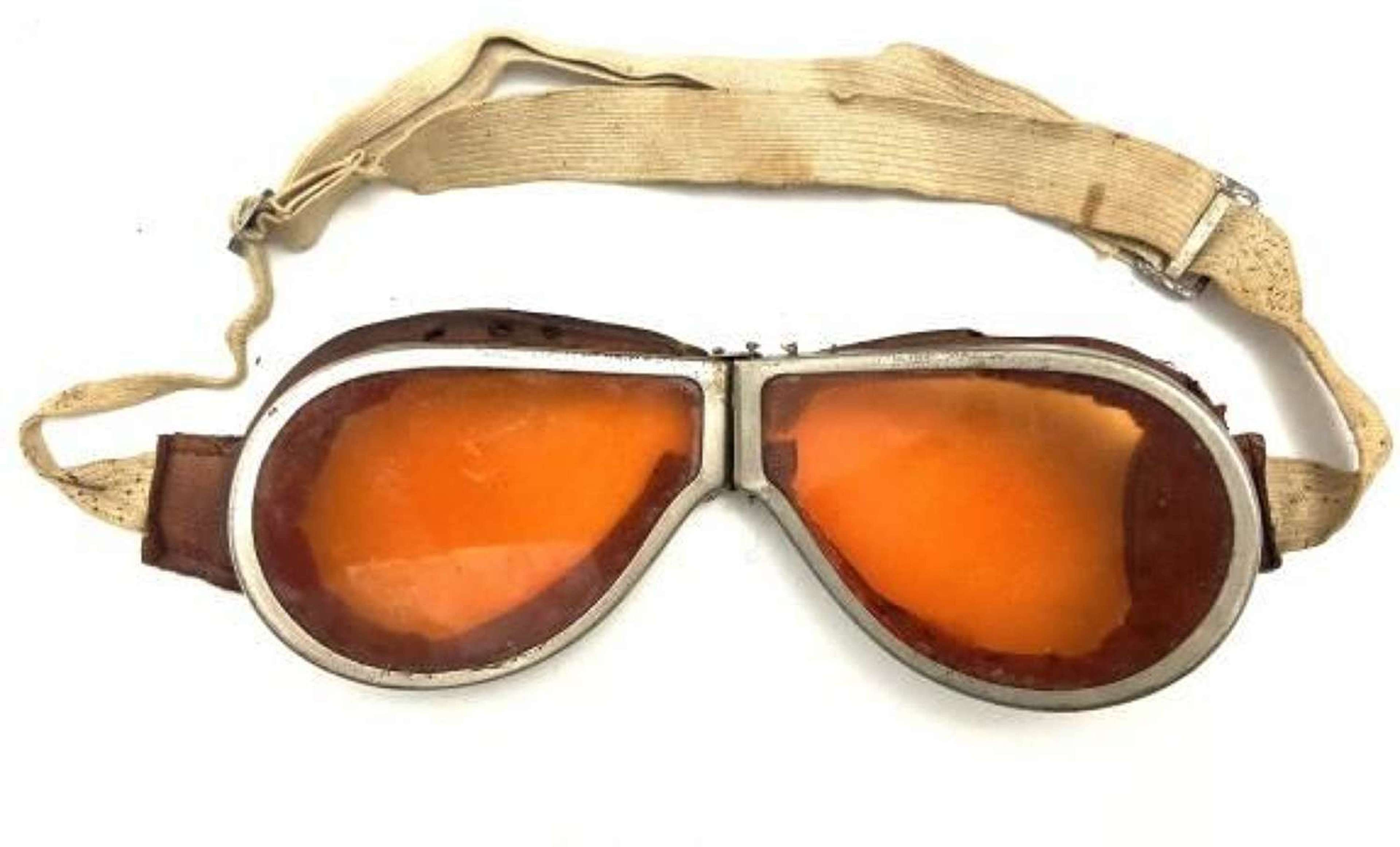 Original WW2 British MT Goggles with Tinted Lenses
