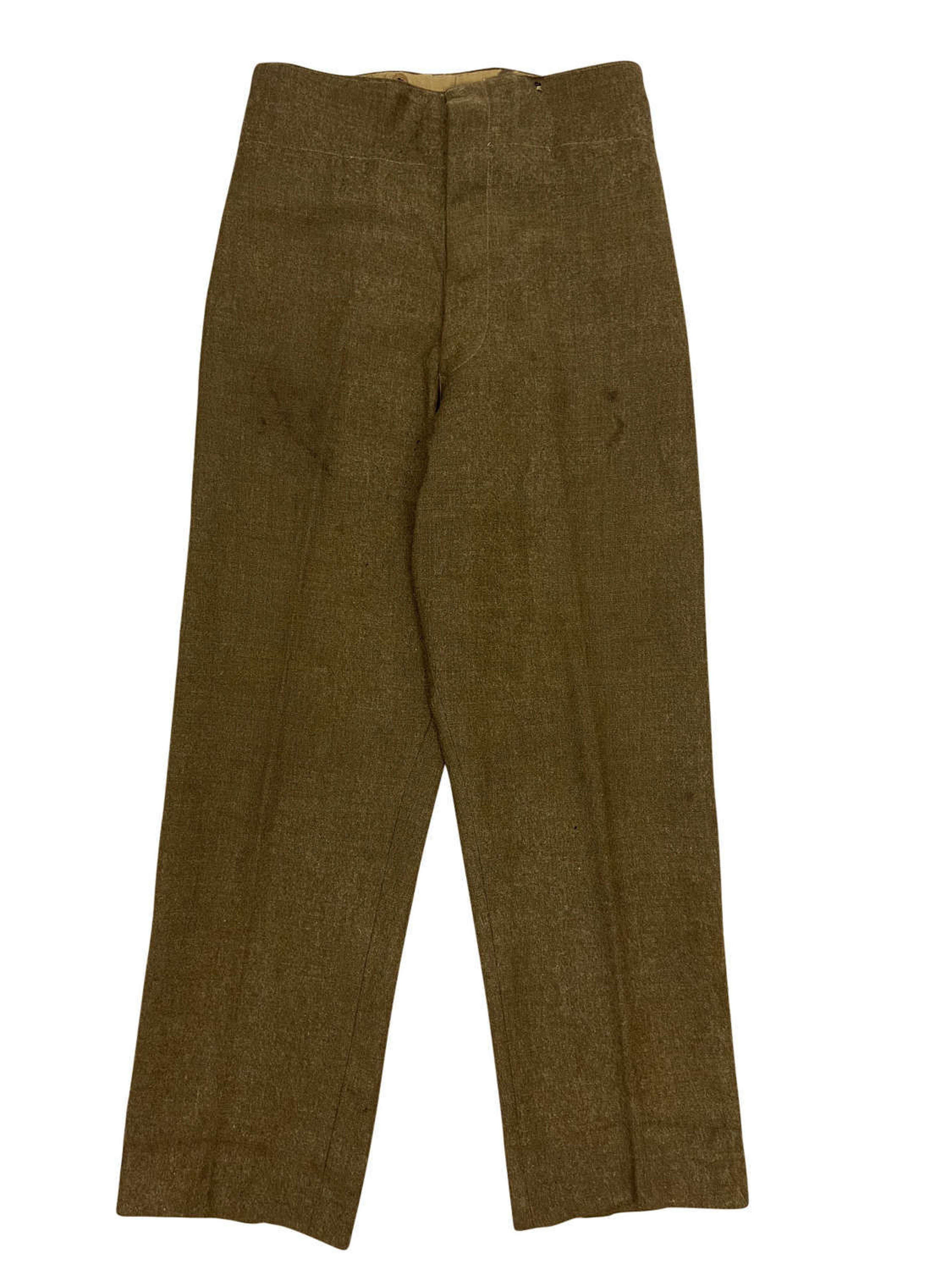 Original 1943 Dated 1940 Pattern (Austerity) Batteldress Trousers