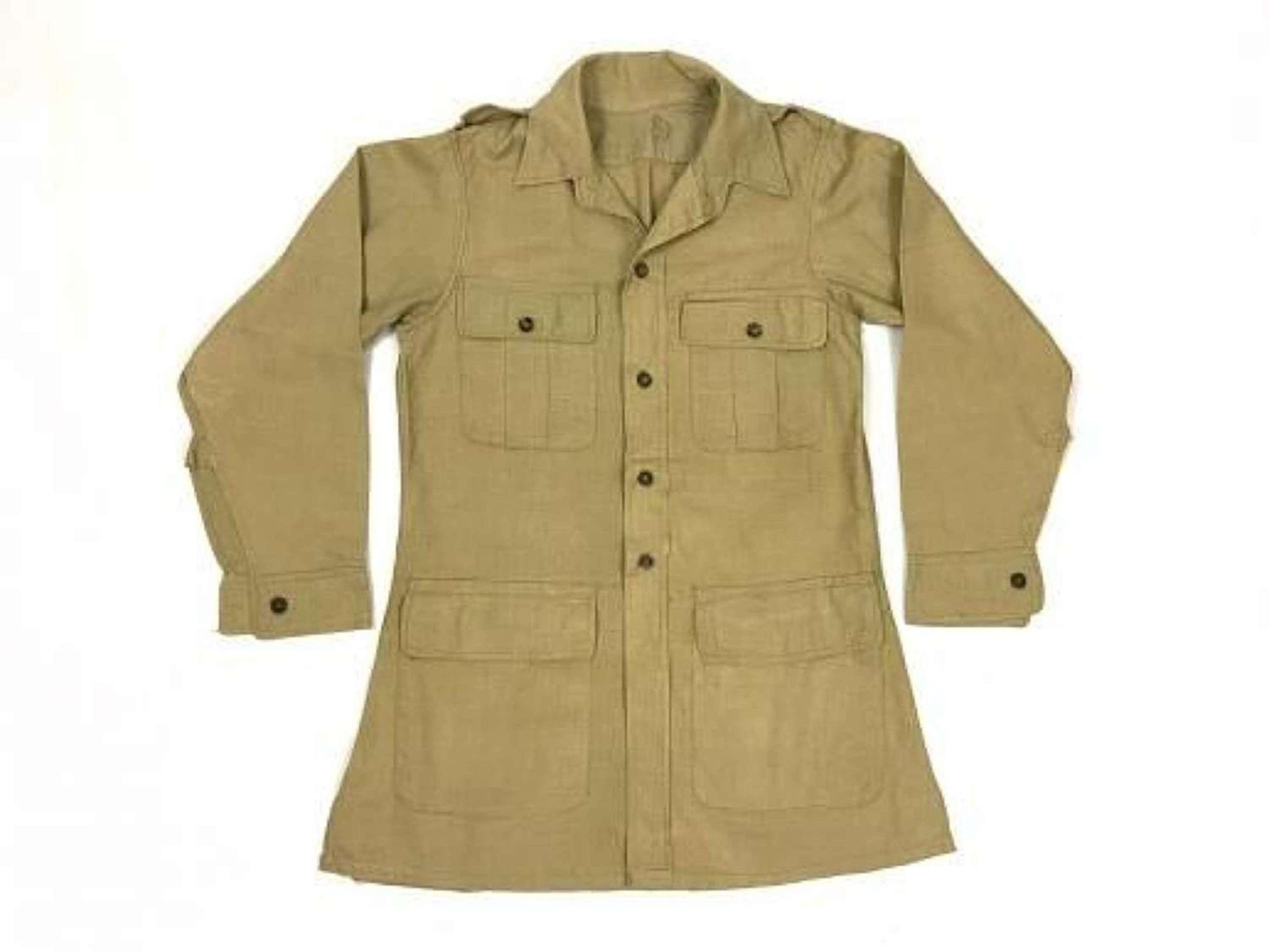 Original 1943 Dated British Army Aertex Bush jacket