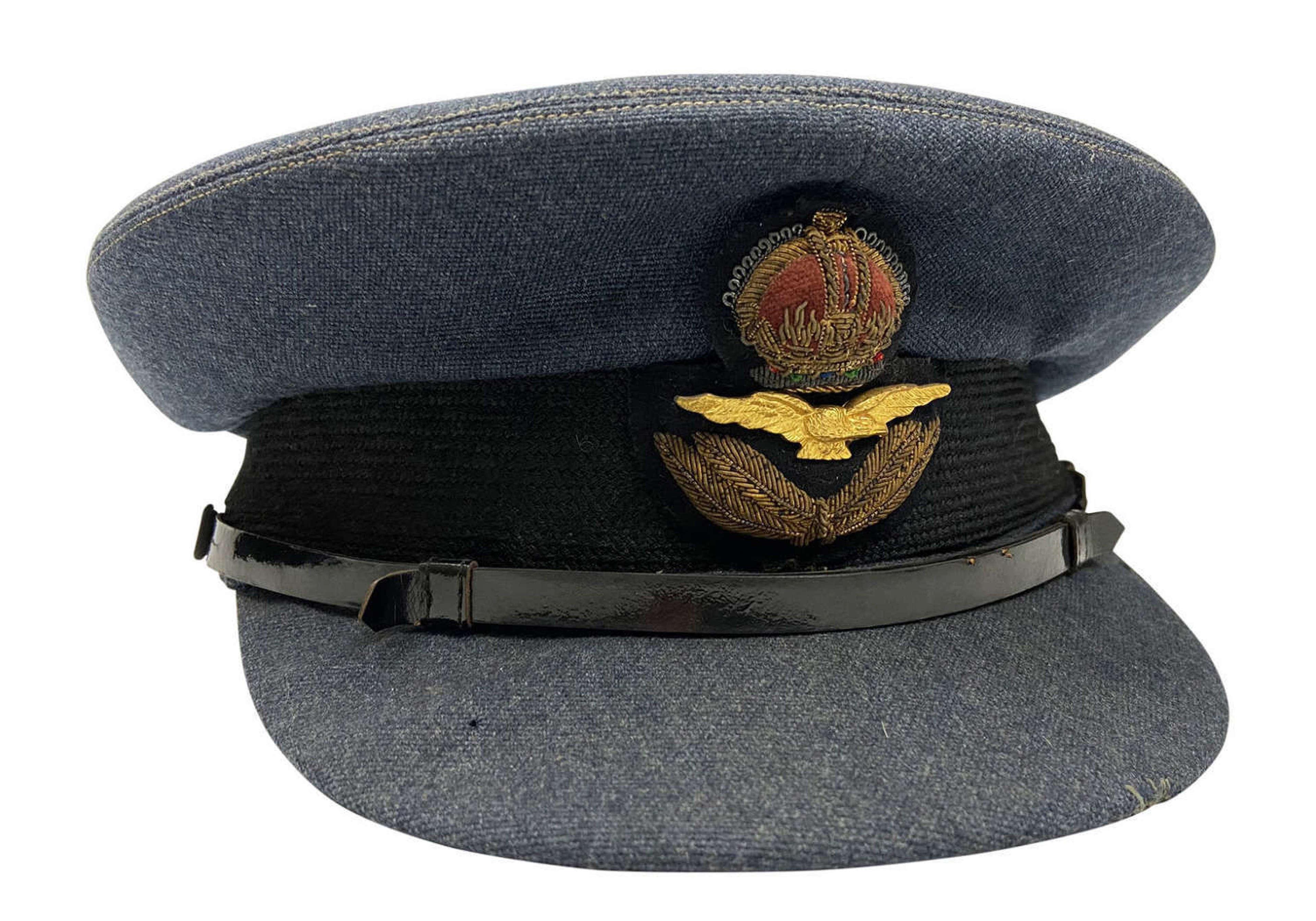 Original WW2 RAF Officers Peaked Cap by 'Alkit'