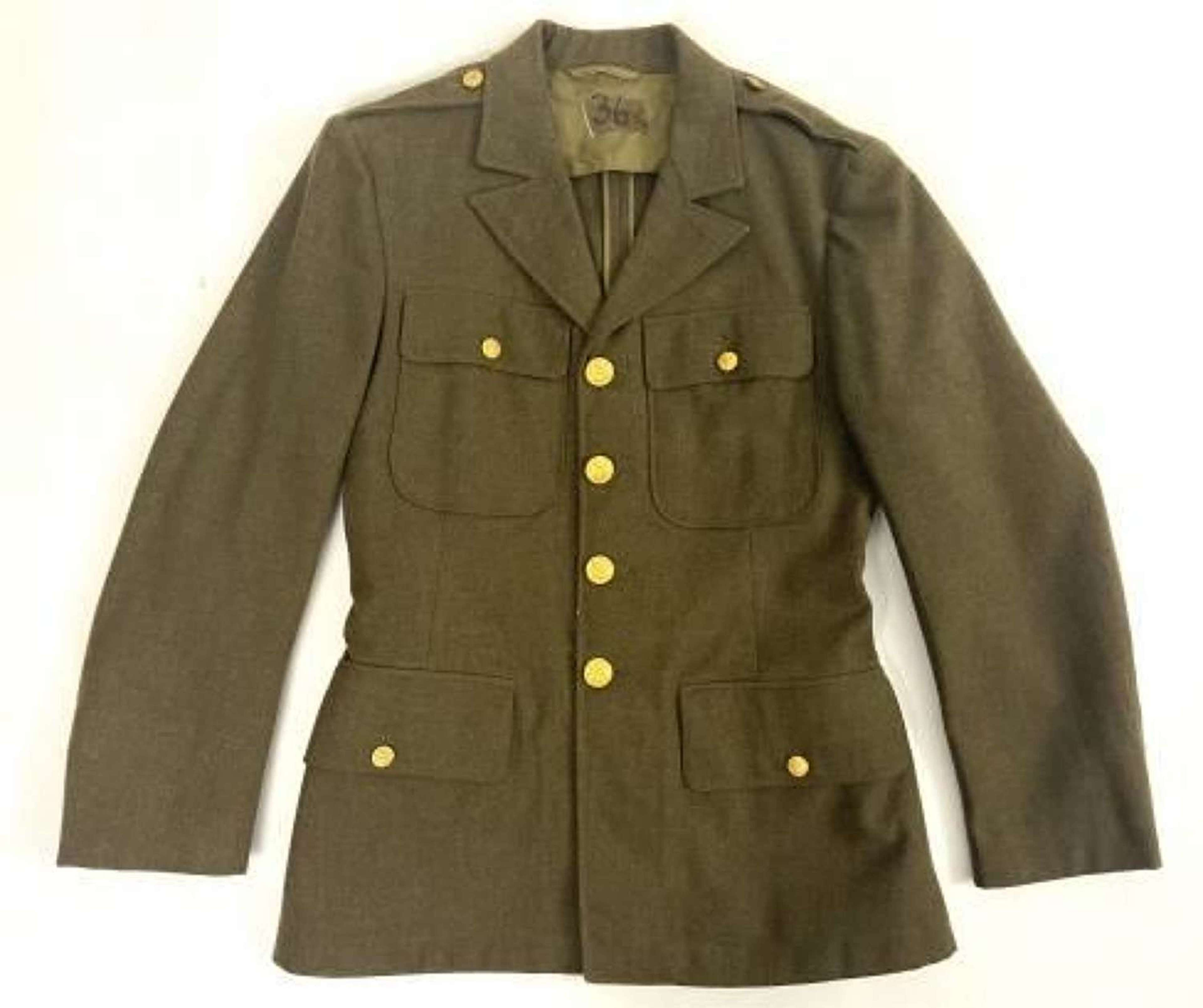 Original 1940 Dated US Enlisted Men's Tunic - Size 36