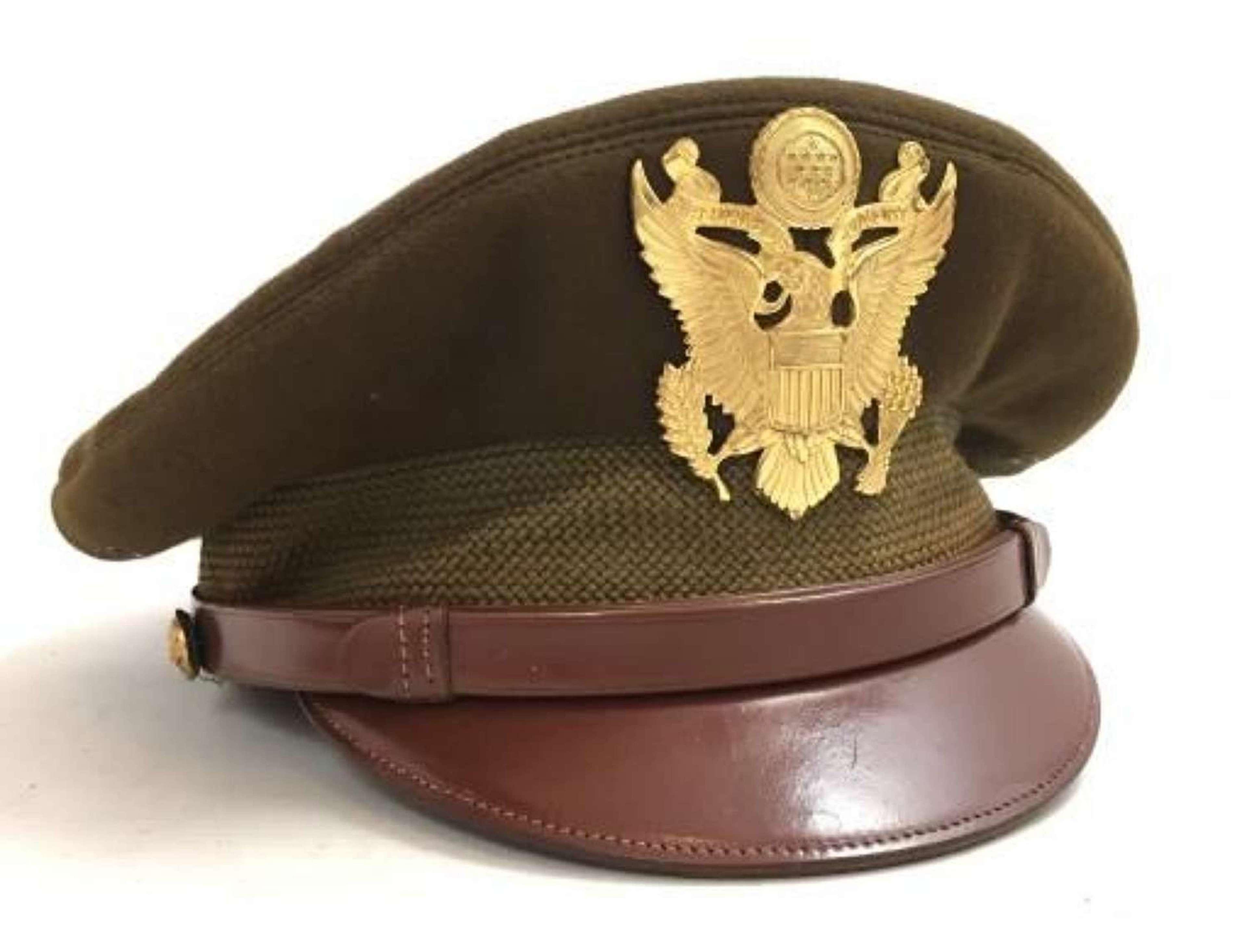 Original WW US Army Officers Service Cap by 'Superior Uniform Cap Co'